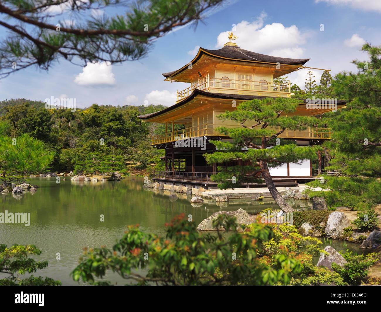 Kinkaku Ji Temple Of The Golden Pavilion Surrounded By Japanese