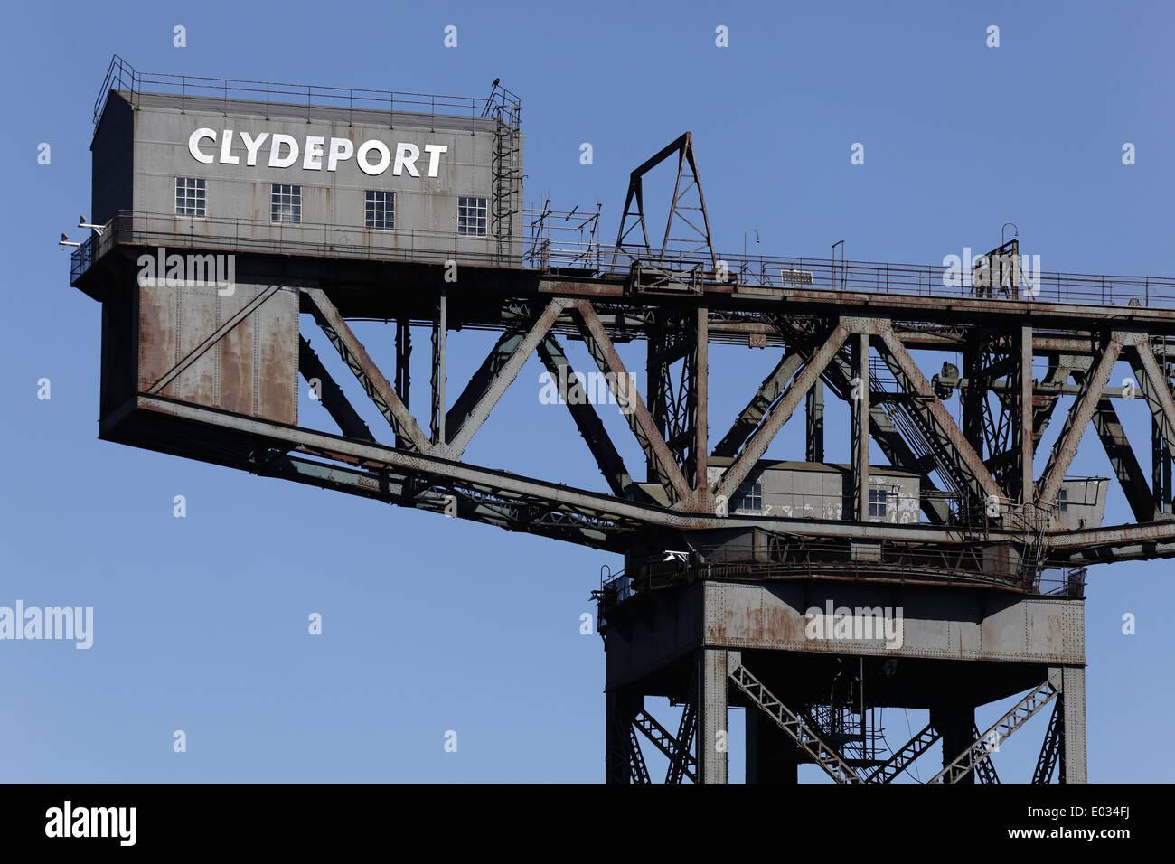 Detail of the Finnieston Titan Crane in Glasgow, Scotland, UK - Stock Image