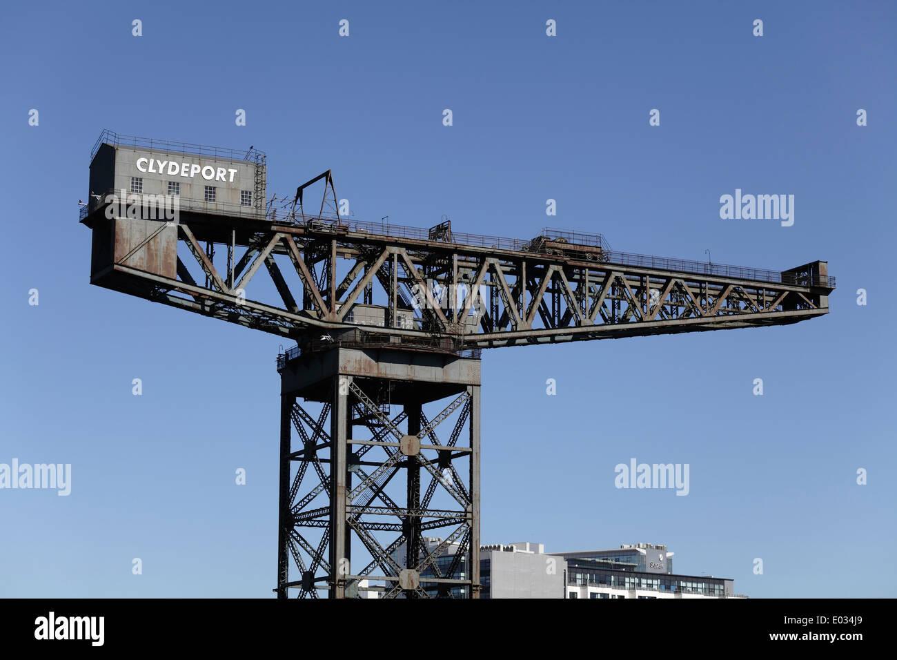 The Finnieston Titan Crane in Glasgow, Scotland, UK - Stock Image