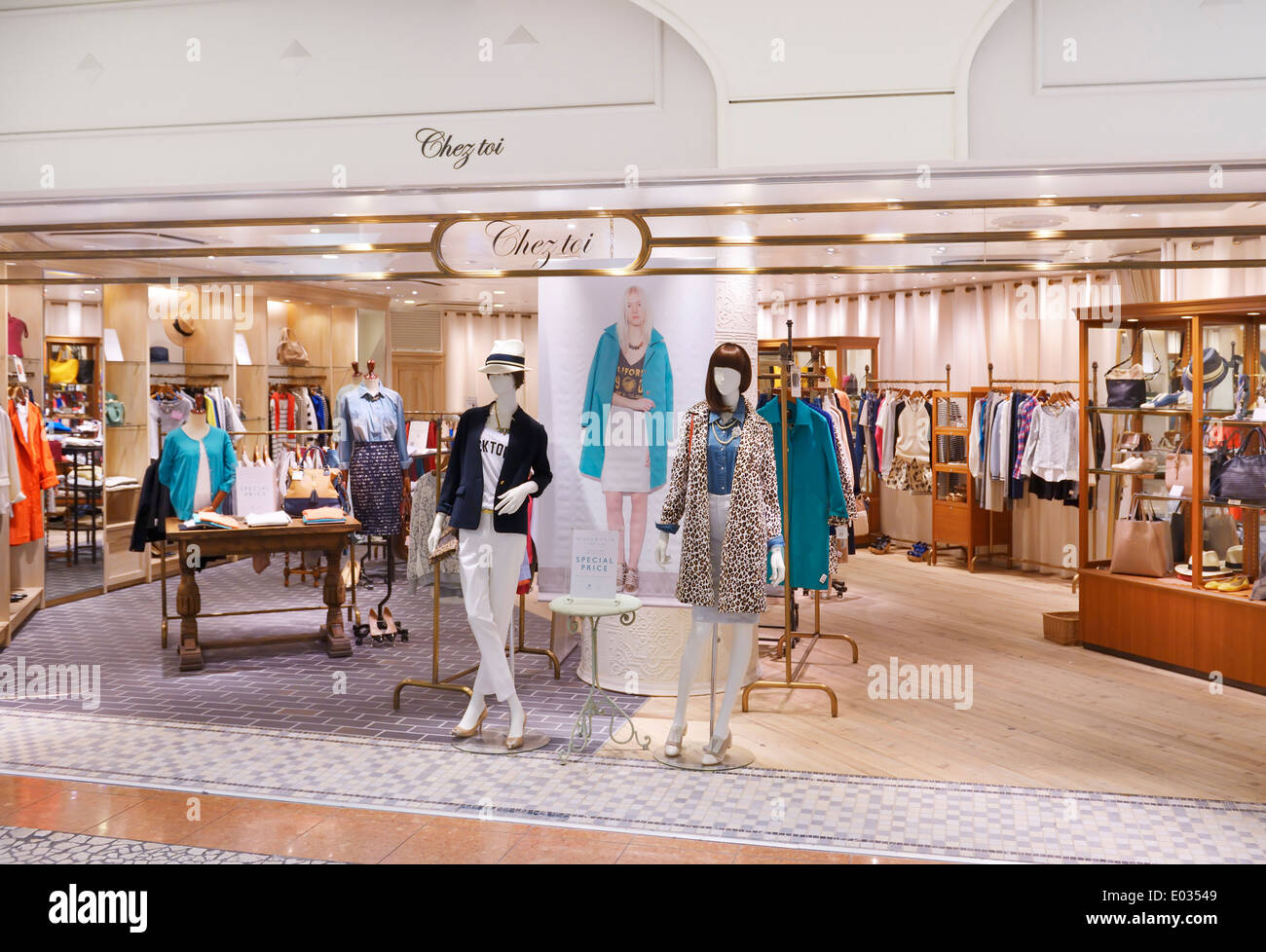 Chez Toi clothing store in Tokyo, Japan - Stock Image