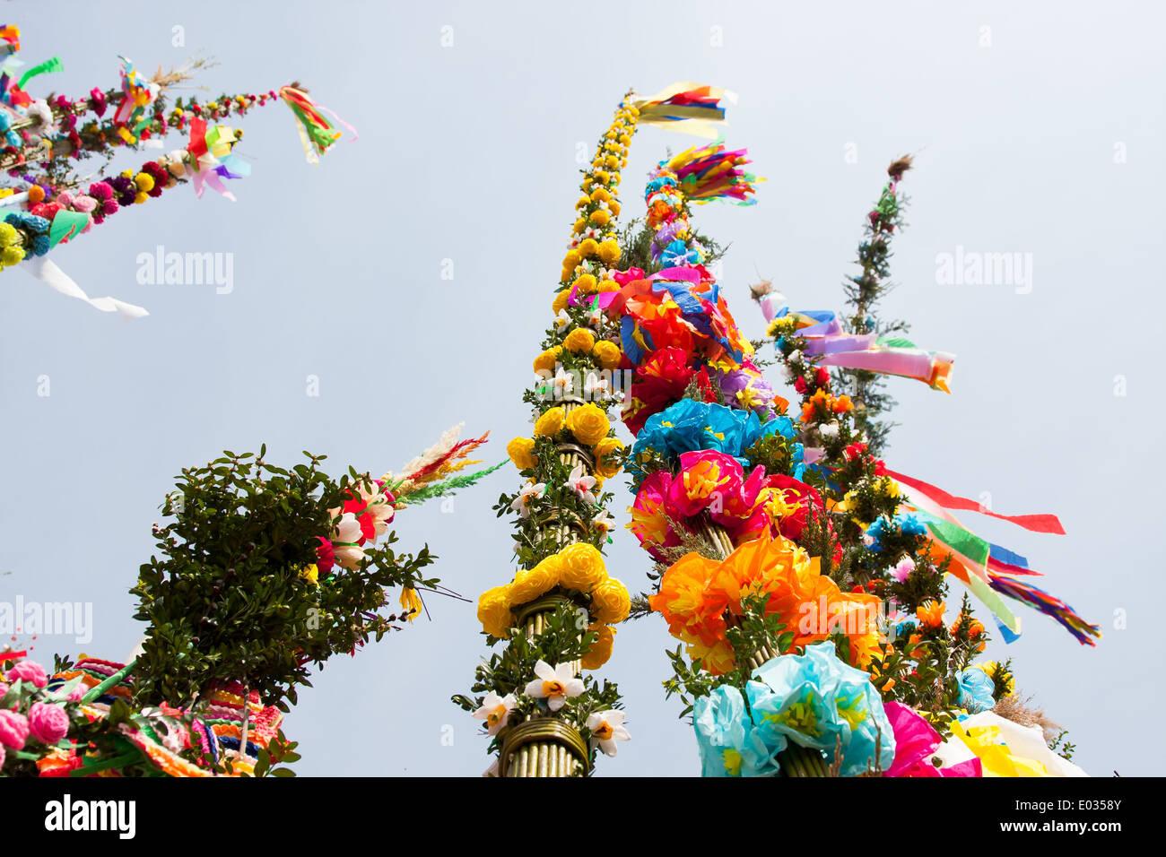 Easter Palm Contest in Lipnica Murowana - Stock Image