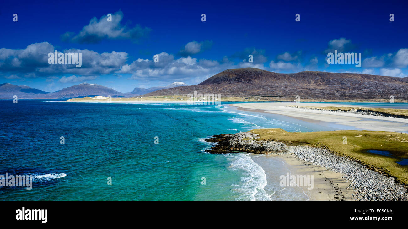 The beach at Seilebost, Isle of Harris, Outer Hebrides, Scotland - Stock Image