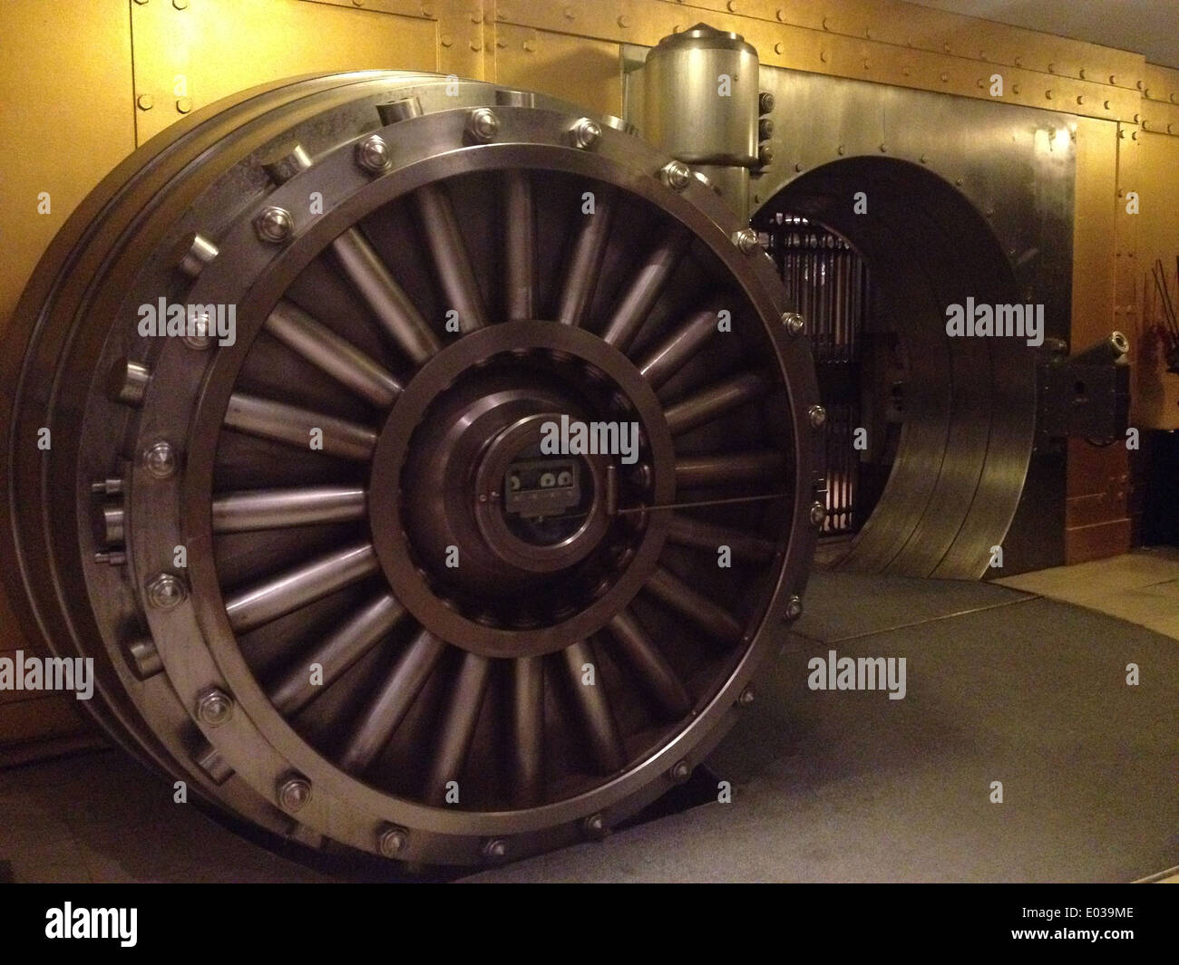 Old bank vault in Toronto Canada - Stock Image