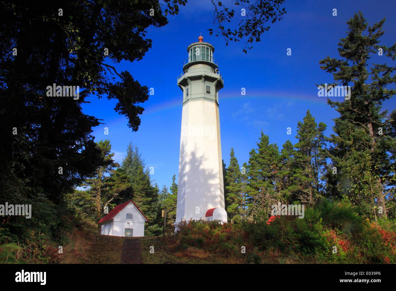 Grays Harbor Lighthouse at sunrise, Washington, US - Stock Image