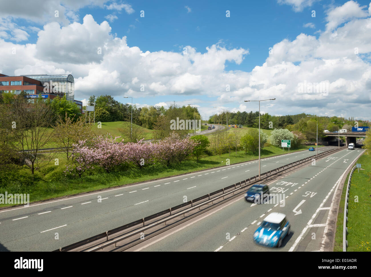 Queensway dual carriageway, Telford Town Centre. - Stock Image