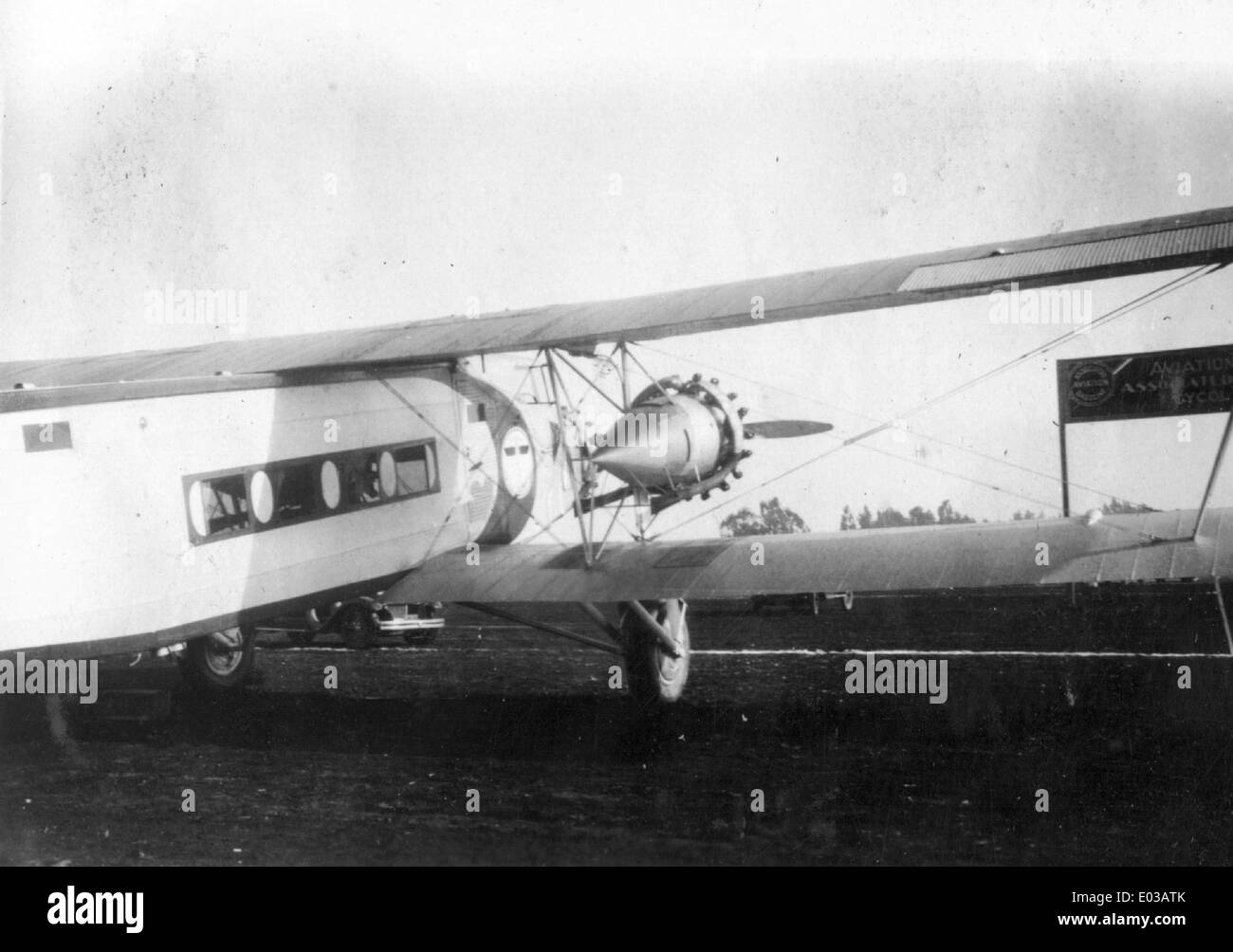 15. Boeing Model 80, Boeing Air Transport - Stock Image