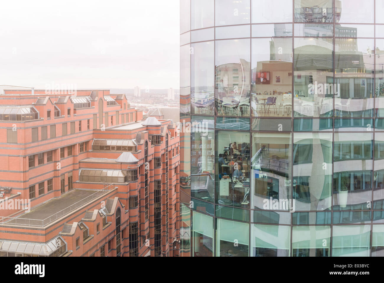 Offices in the Colmore Business District, Financial District of Birmingham, England. - Stock Image