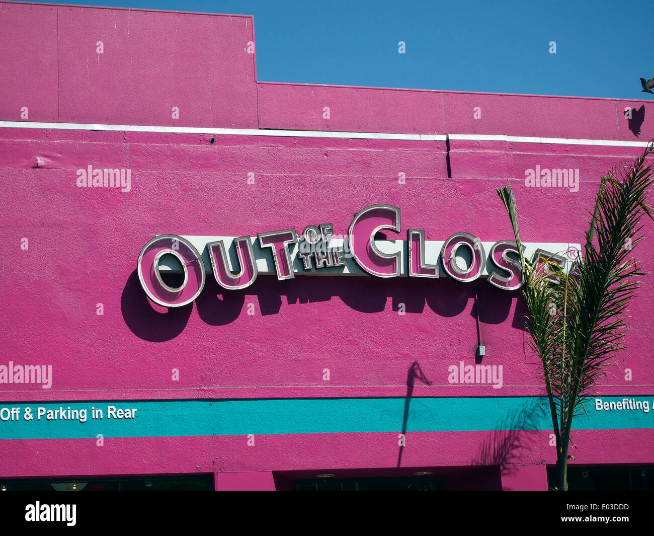 Out of the Closet store on Polk Street in San Francisco, California, - Stock Image