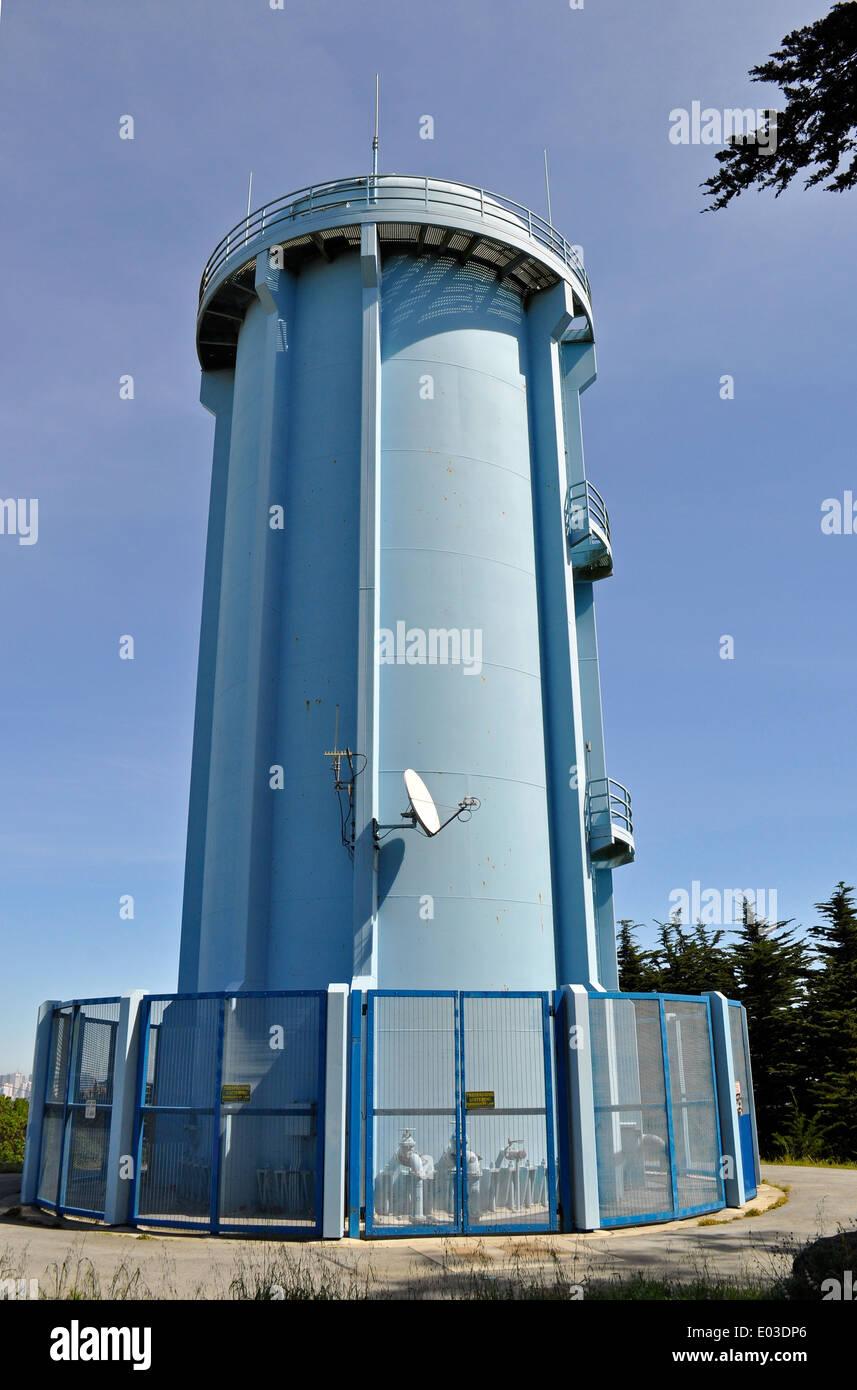 Water Tower, McLaren Park, San Francisco, California, USA   Stock Image