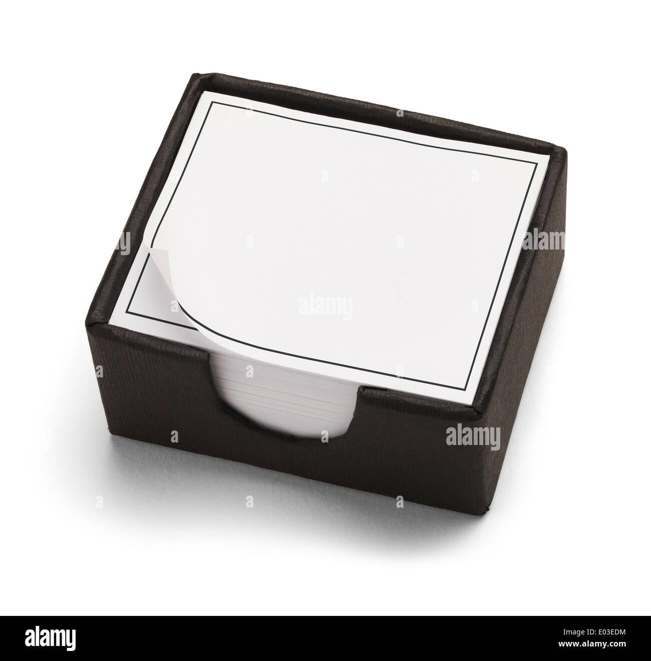 Black and White Desk Box Calendar Isolated on White Background. - Stock Image