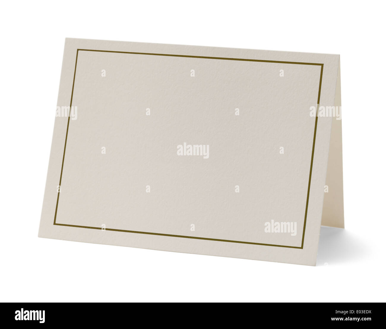 Greeting Card with Copy Space Isolated on White Background. - Stock Image