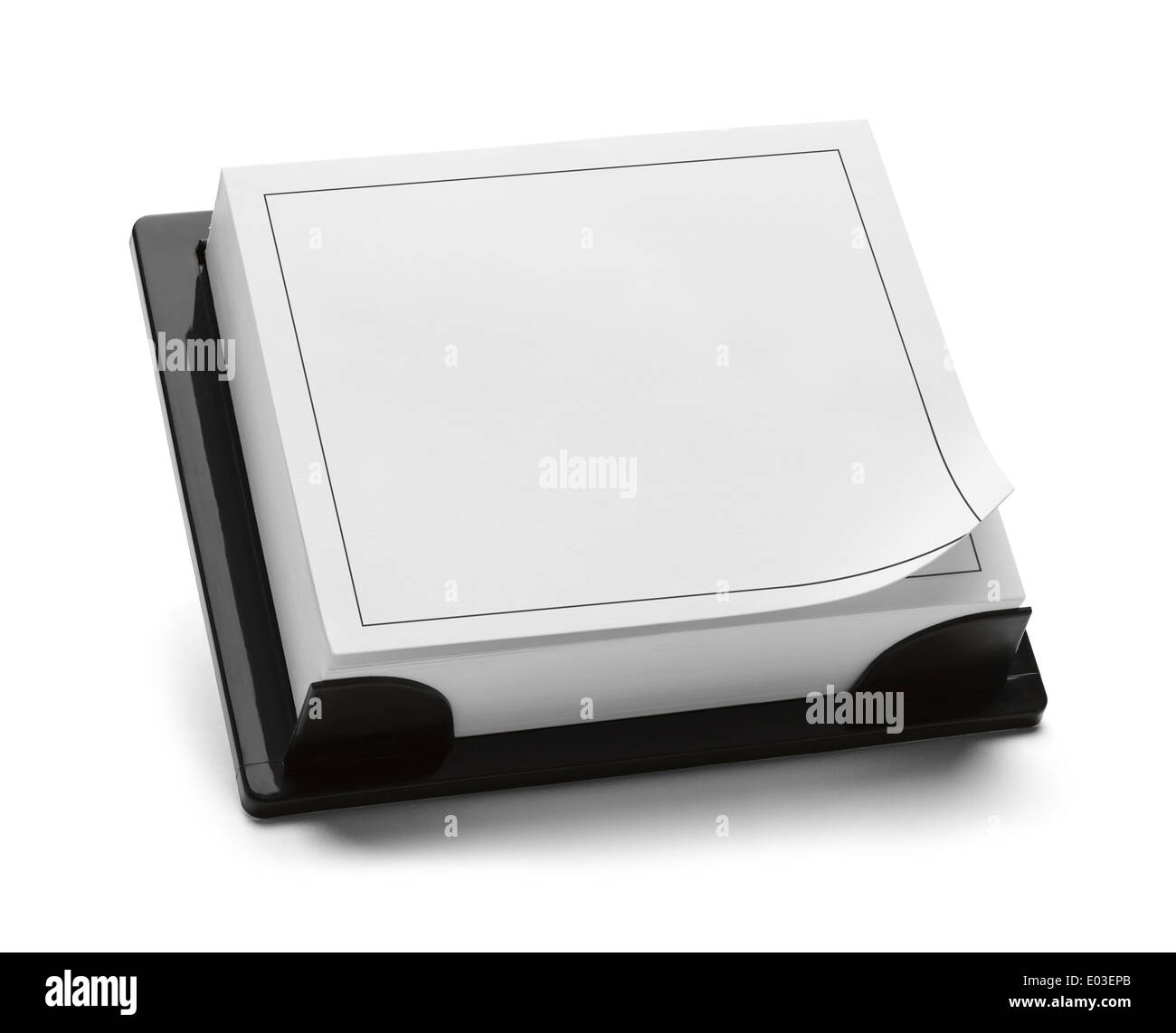 Square Black and White Calendar with Copy Space Isolated on White Background. - Stock Image