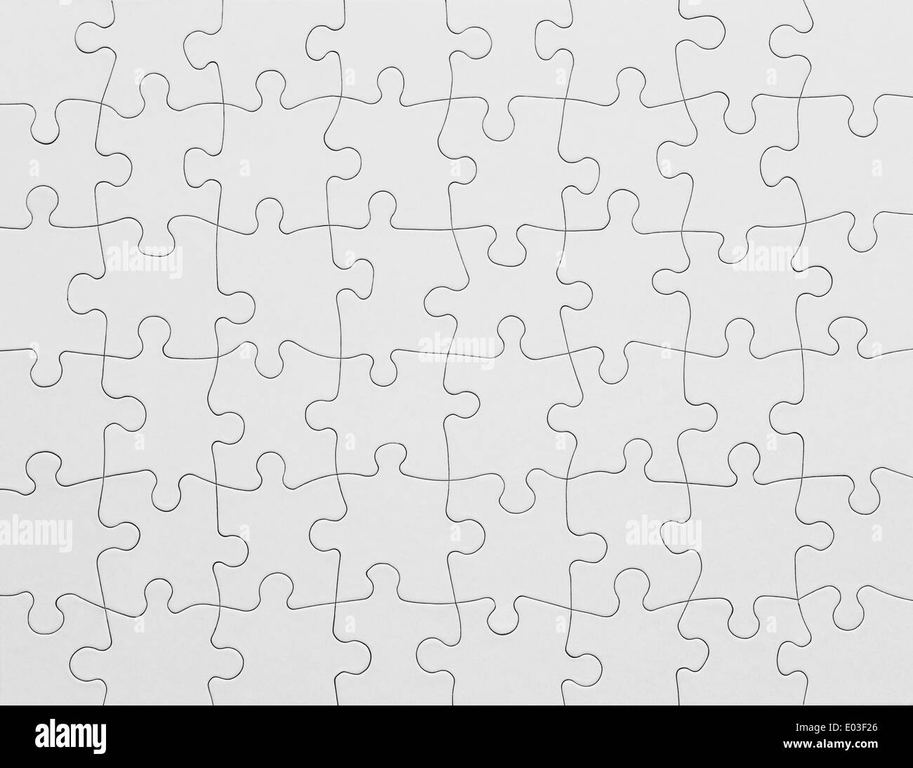 Complete White Puzzle with Copy Space. - Stock Image