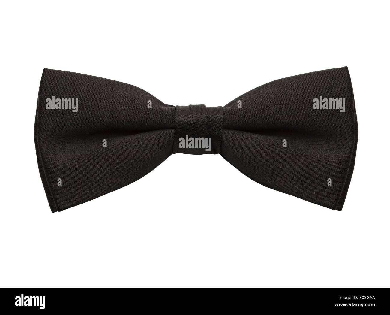 Black Bow Tie Isolated On White Background. Stock Photo