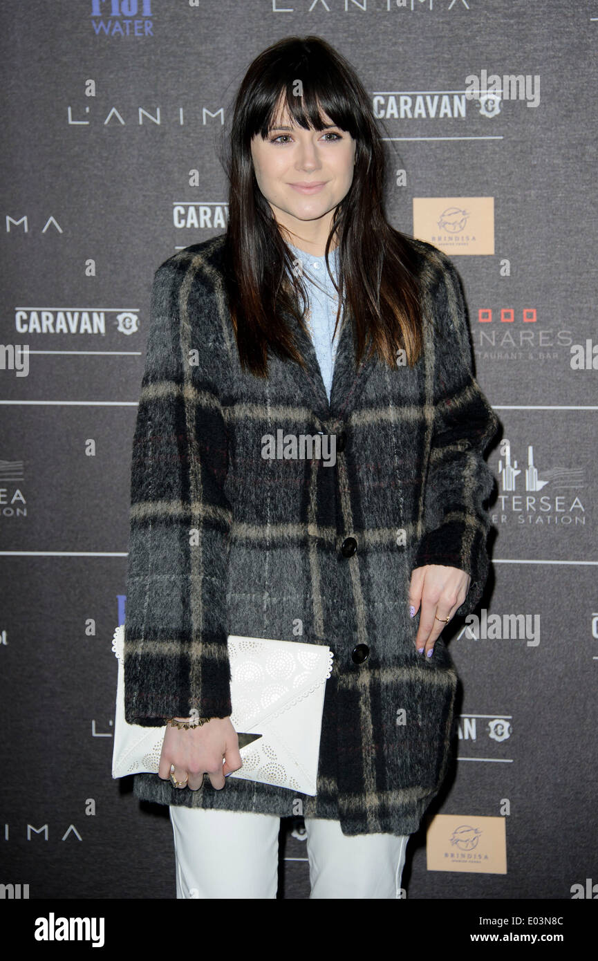 Lilah Parsons arrives for the Battersea Power Station Annual Party. - Stock Image