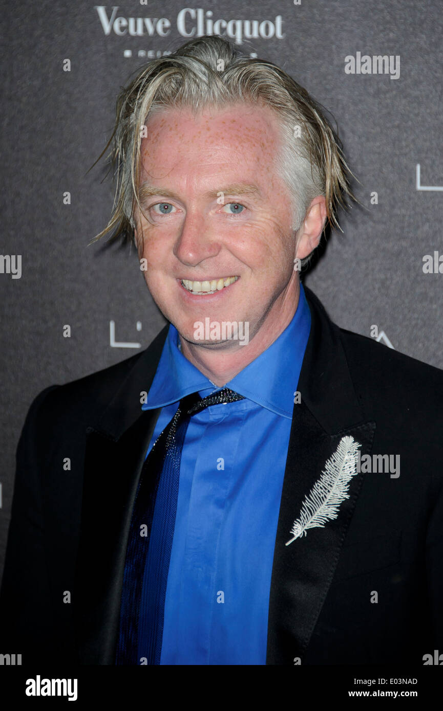 Philip Treacy arrives for the Battersea Power Station Annual Party. - Stock Image