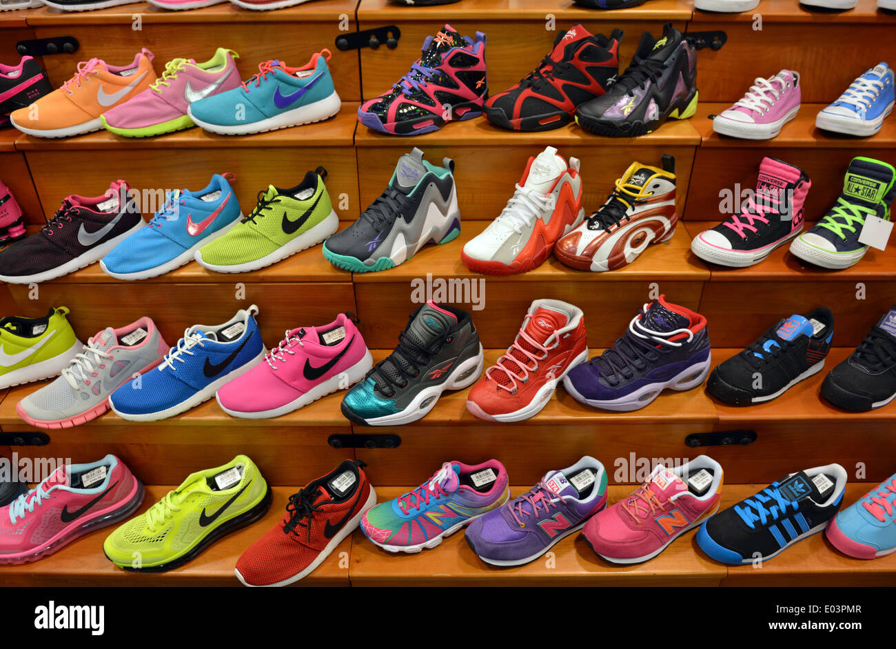 Athletic Shoe Store Stock Photos & Athletic Shoe Store Stock