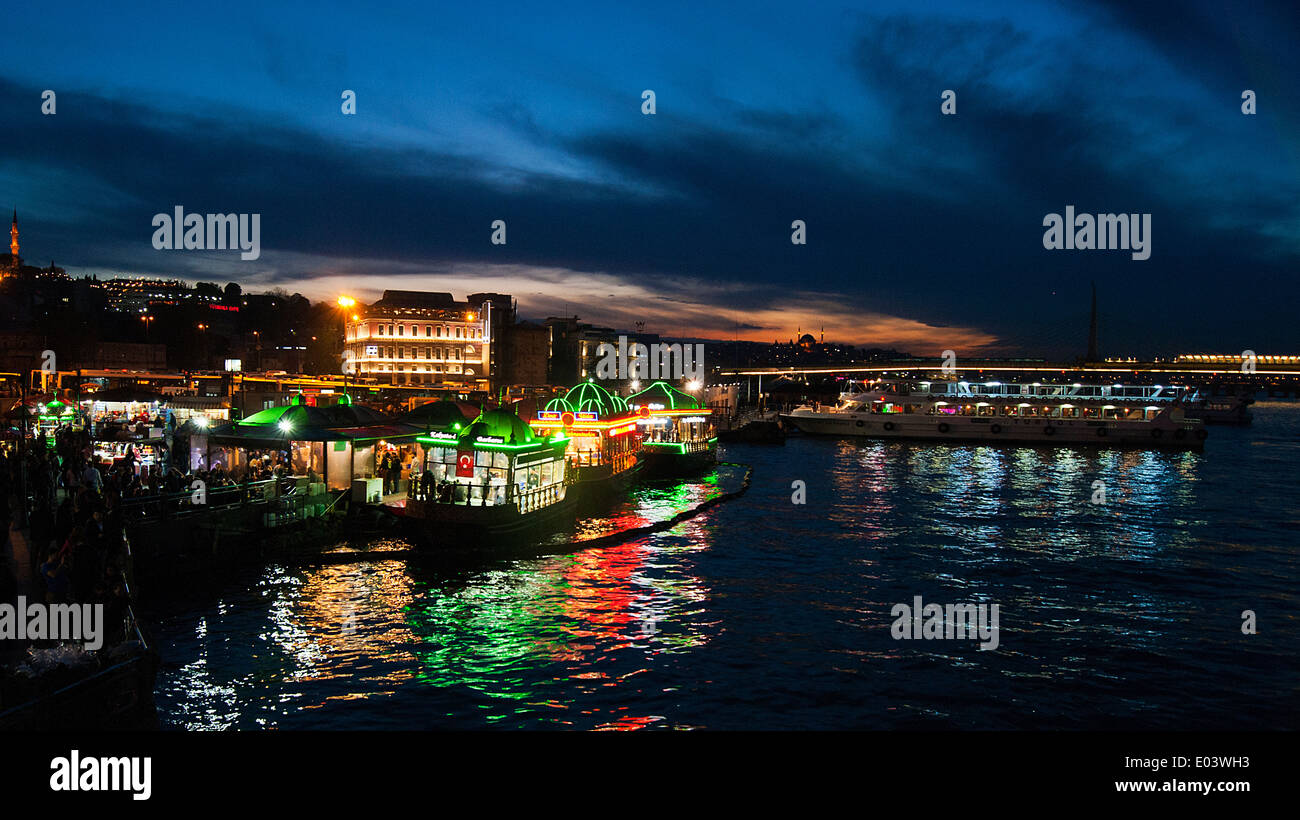 Night landscape from istanbul - Stock Image