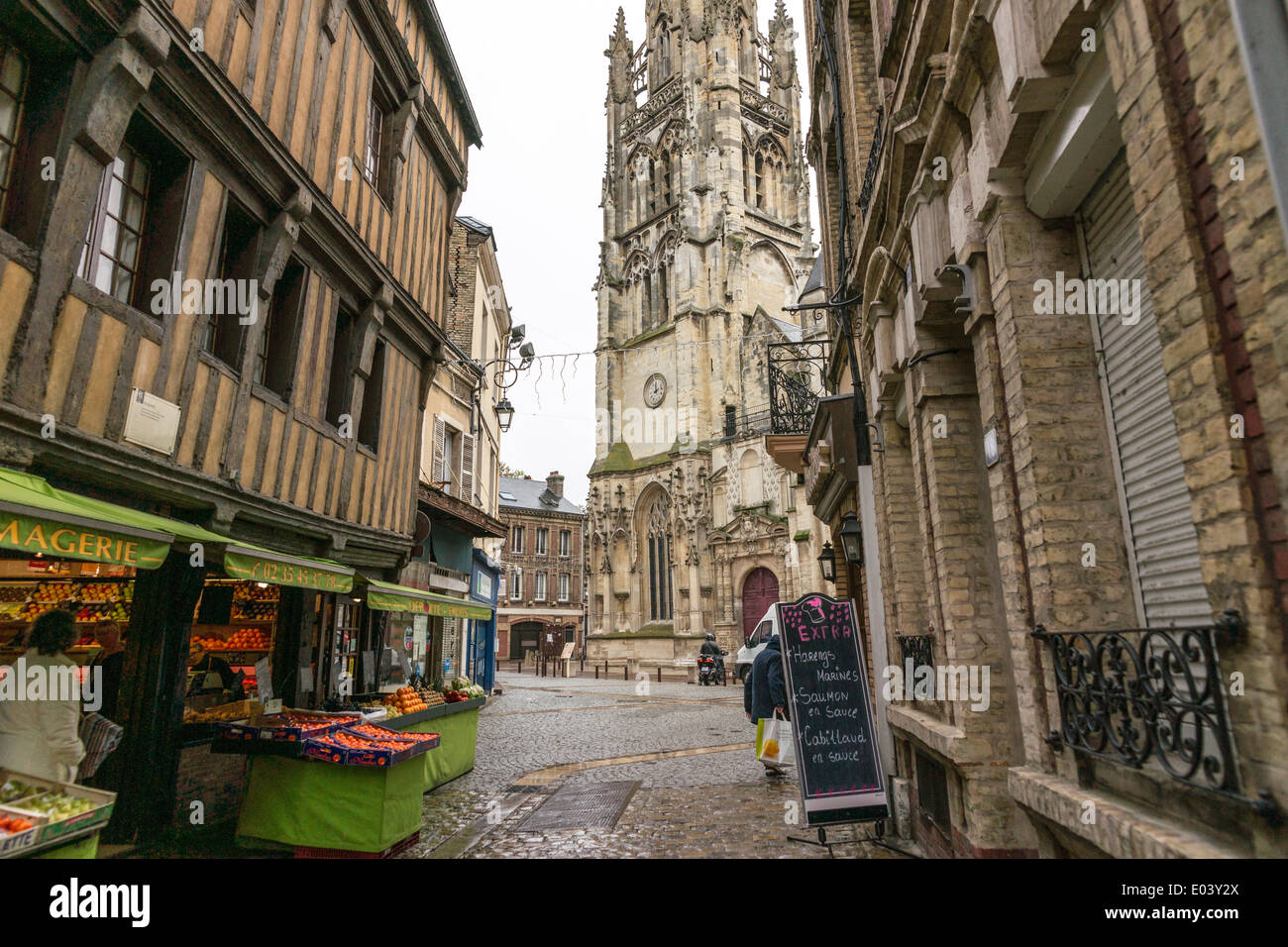 St. Joseph's Church, Le Havre, is a Roman Catholic church in Le Havre, France. - Stock Image