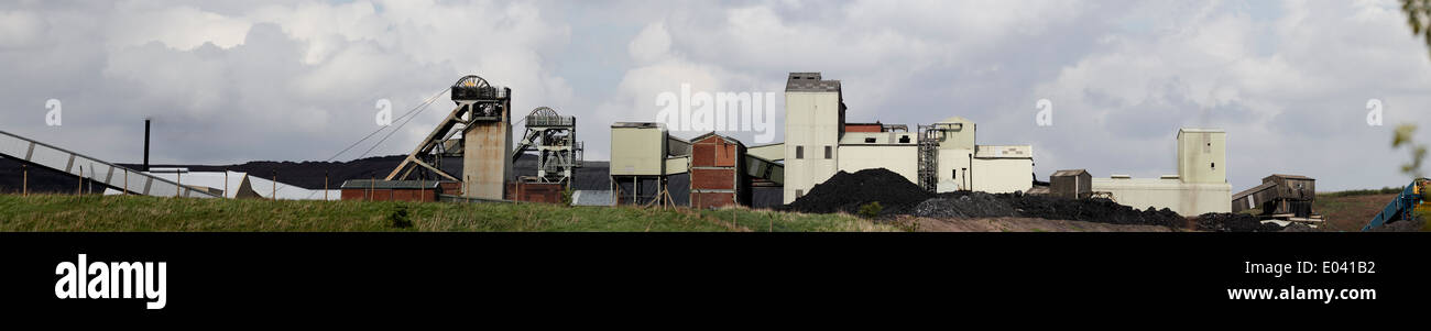 Thoresby Colliery to close Two of Britain's three remaining deep pit coal mines face closure in the next 18 months with the loss of more than 1,300 jobs under plans announced by the country's largest coal producer. UK Coal is consulting on plans to shut Thoresby in Nottinghamshire, which employs 600. - Stock Image
