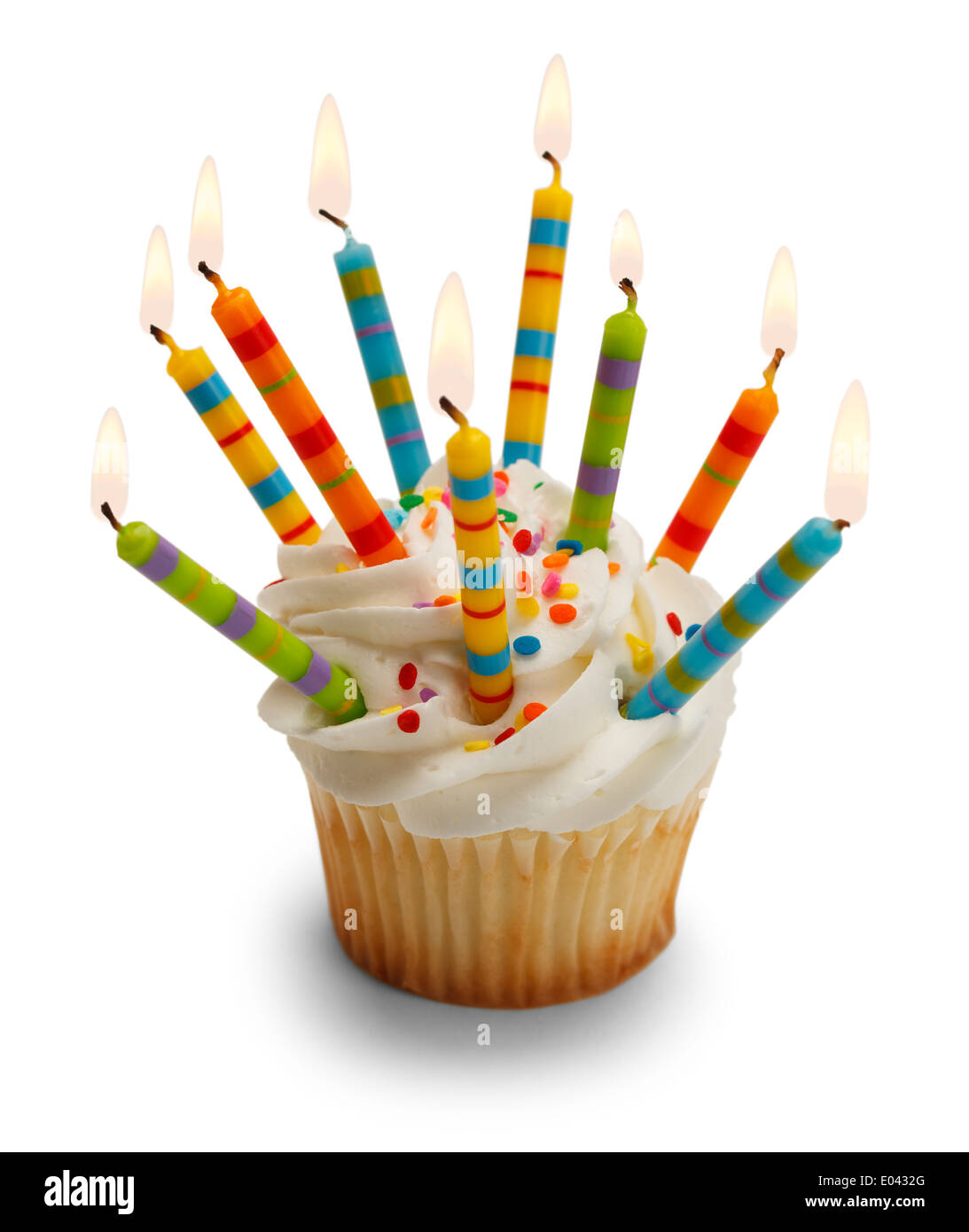 Lots Of Candles Cake Stock Photos Lots Of Candles Cake Stock