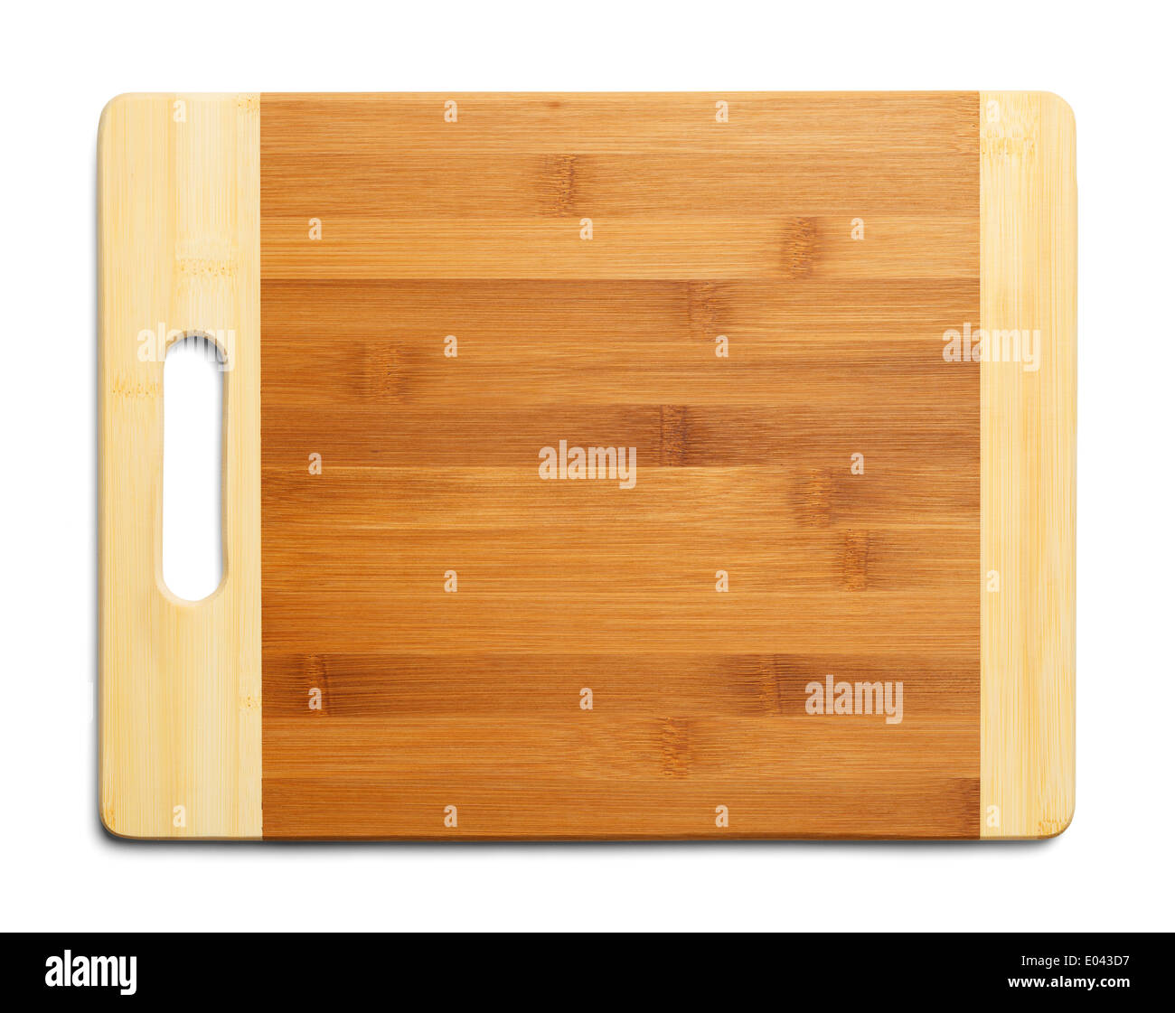 Empty Two Tone Cutting Board Isolatedon White Background. - Stock Image