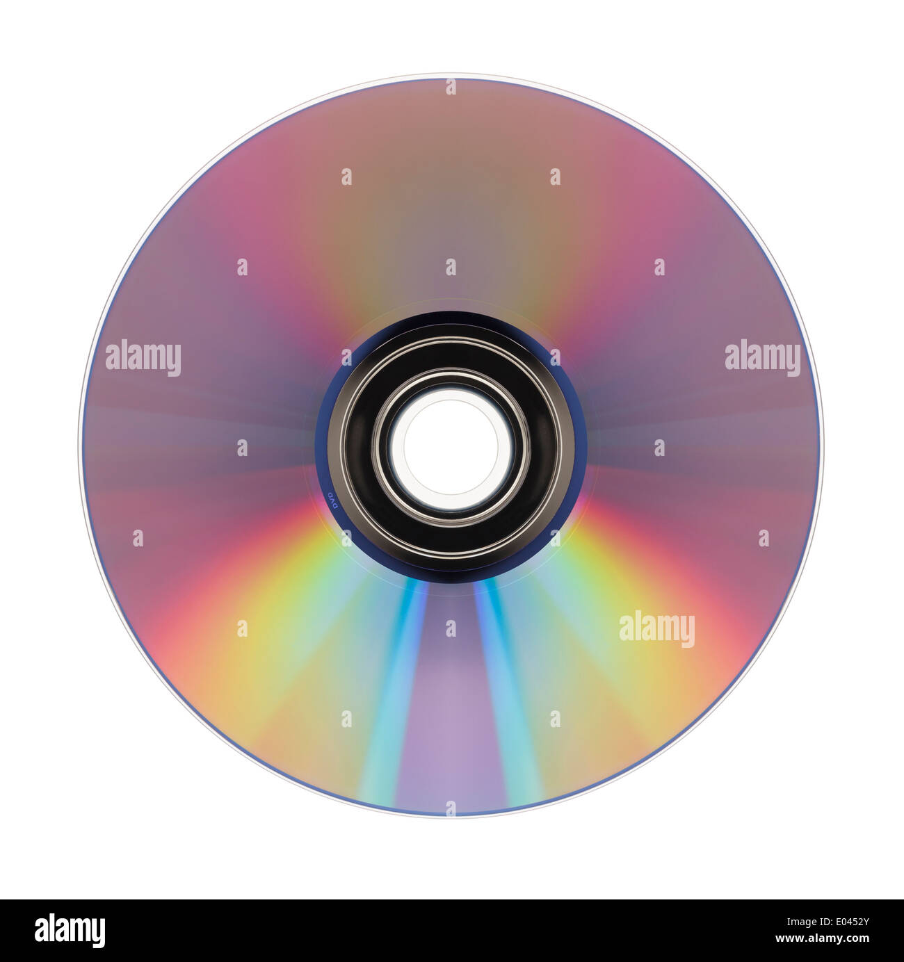 DVD top view isolated on a white background. - Stock Image