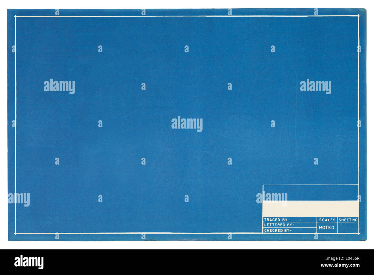 Blank Blueprint Project Page with Copy Space. - Stock Image