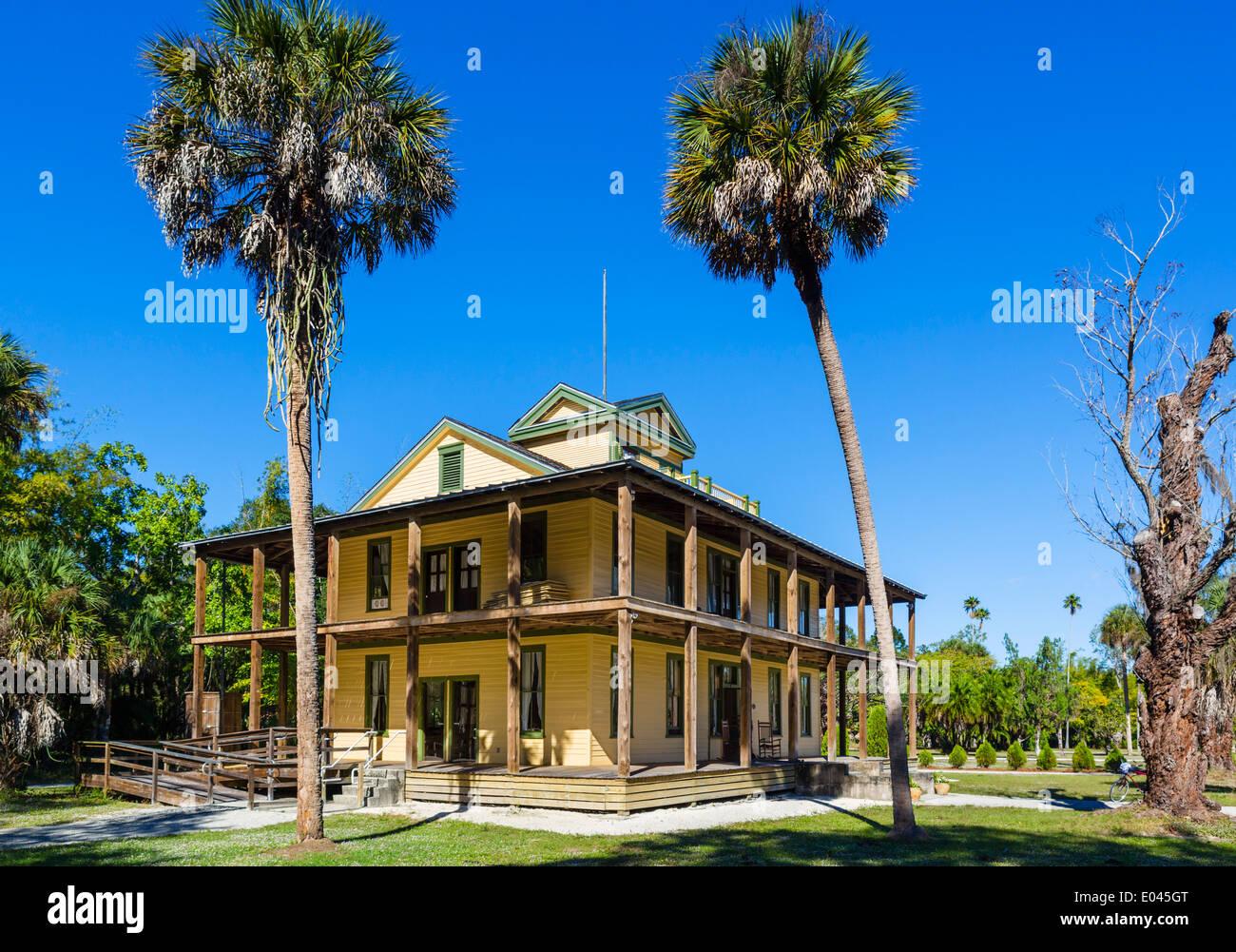 The Planetary Court Building of the Koreshan Unity Settlement, Koreshan State Historic Park, Estero, nr Fort Myers, - Stock Image
