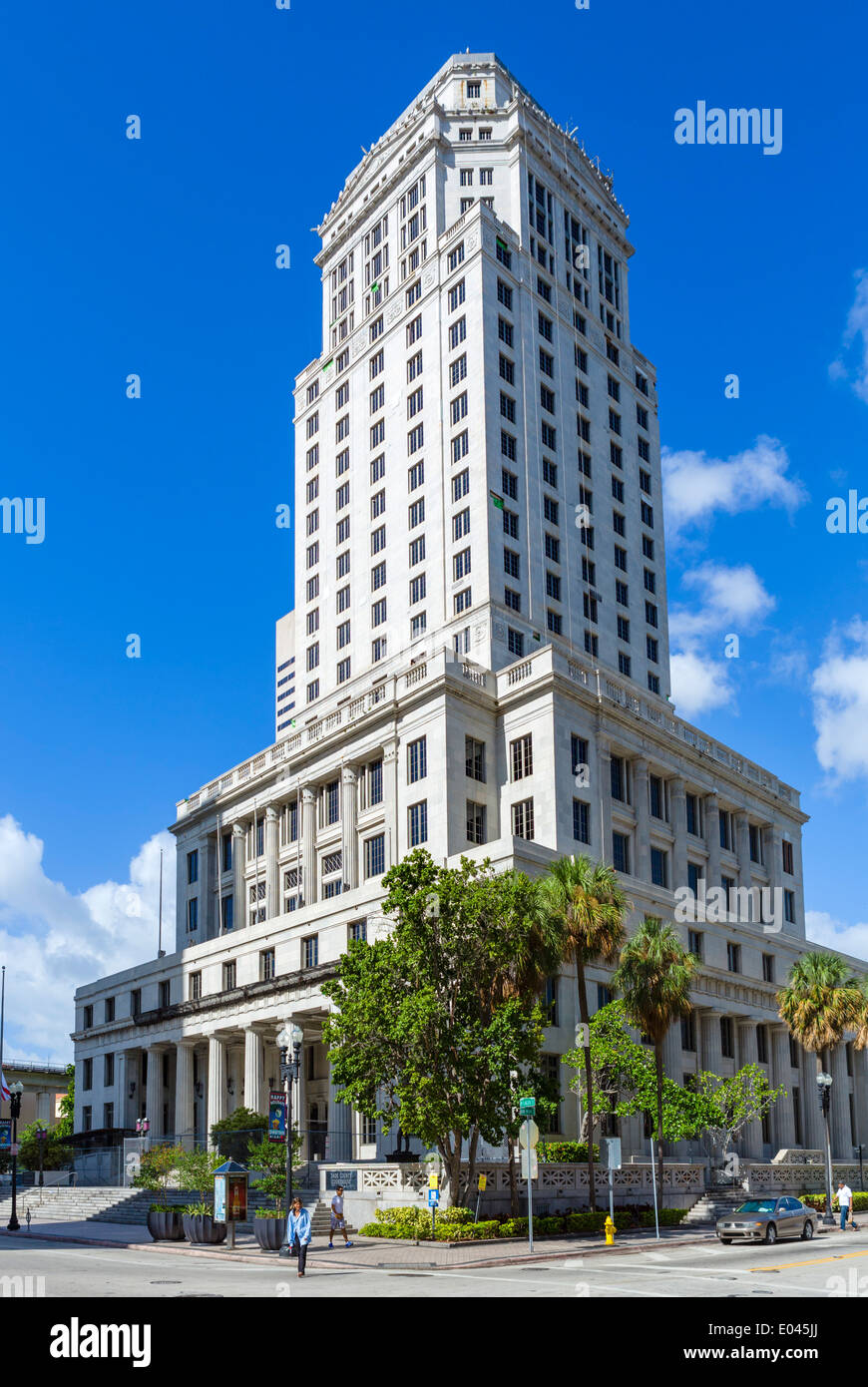 Miami-Dade County Courthouse, West Flagler Street, Miami, Florida, USA - Stock Image