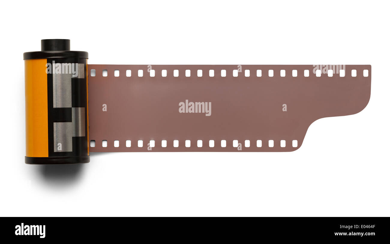 35 mm Roll Film Negative Isolated on White Background ...