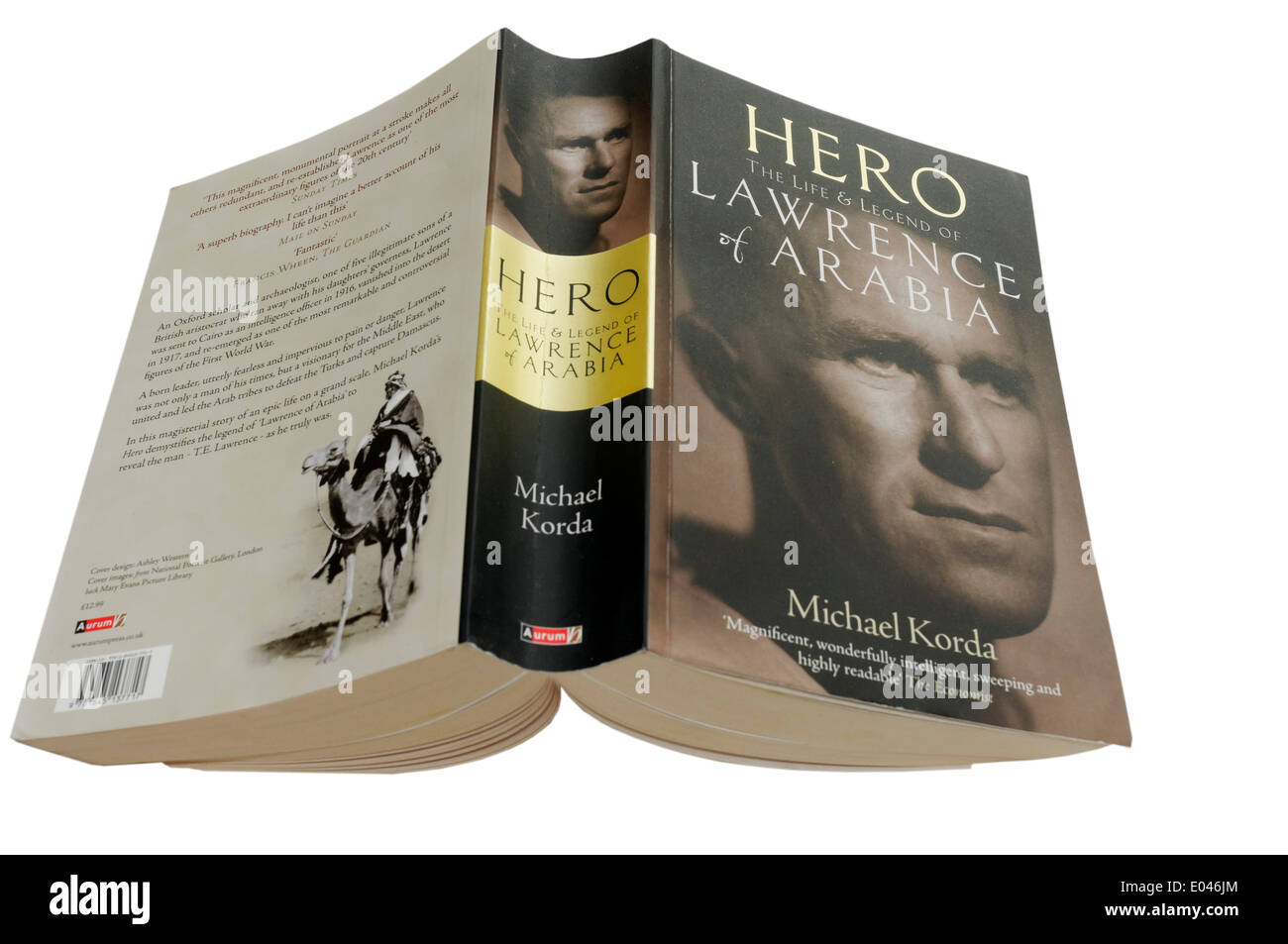 Hero: The Life and Legend of Lawrence of Arabia by Michael Korda - Stock Image