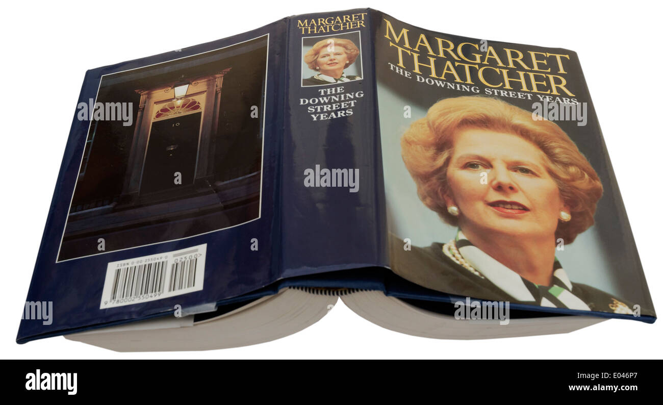 The Downing Street Years by Margaret Thatcher - Stock Image