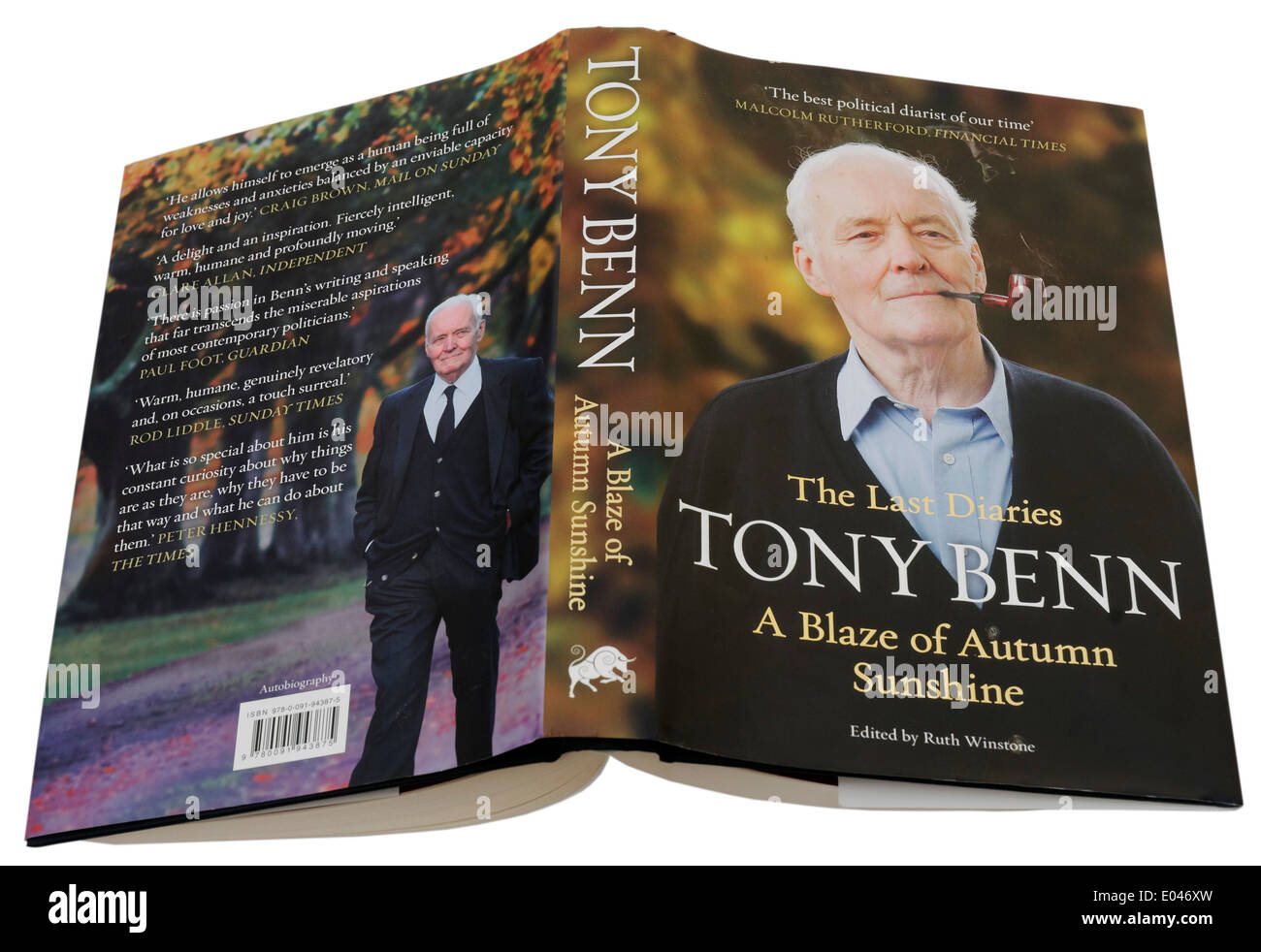 A Blaze of Autumn Sunshine by Tony Benn, the last volume of his political diaries - Stock Image