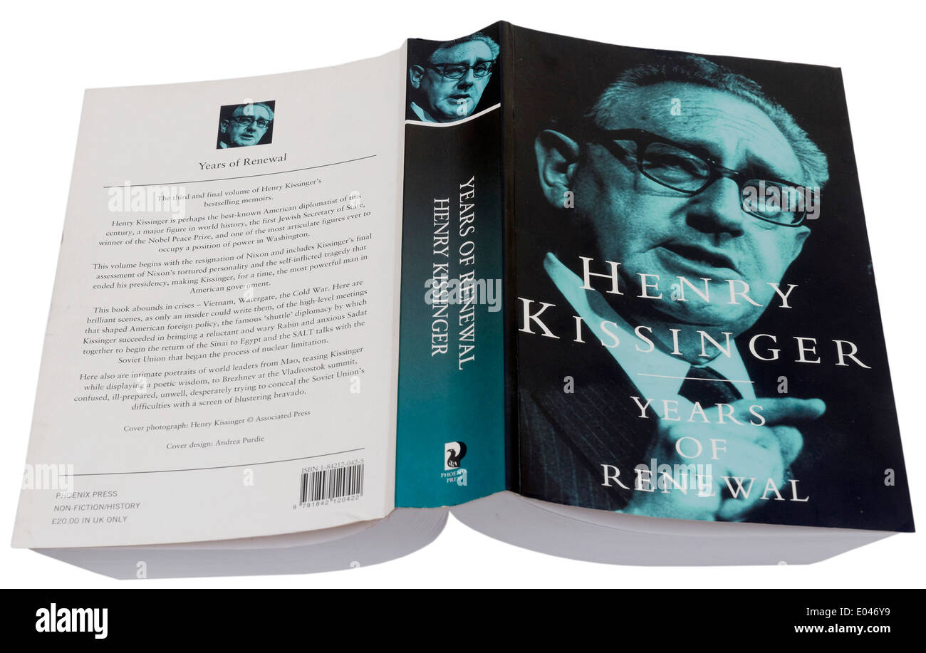 Years of Renewal by Henry Kissinger - Stock Image
