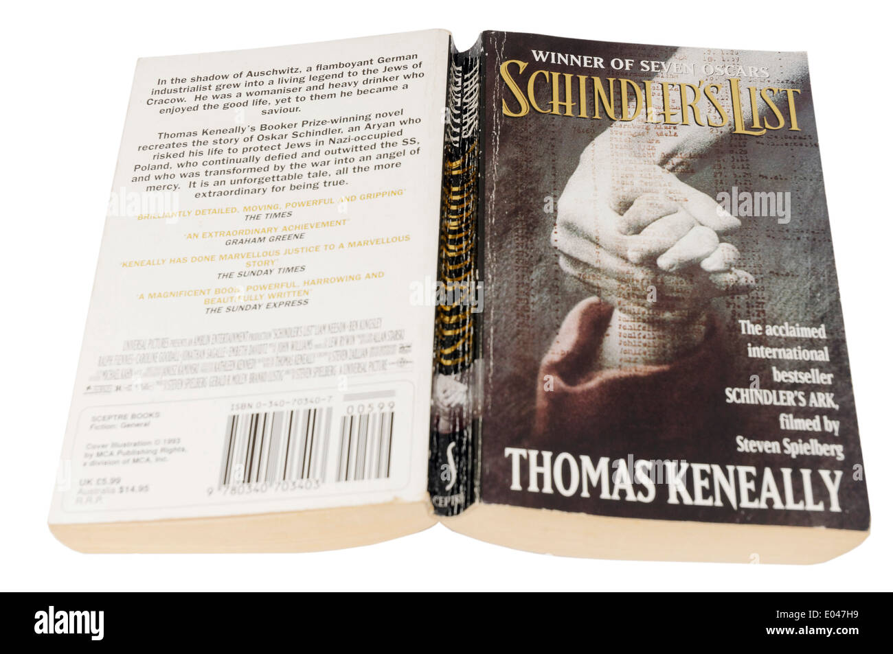 Schindler's List by Thomas Keneally - Stock Image