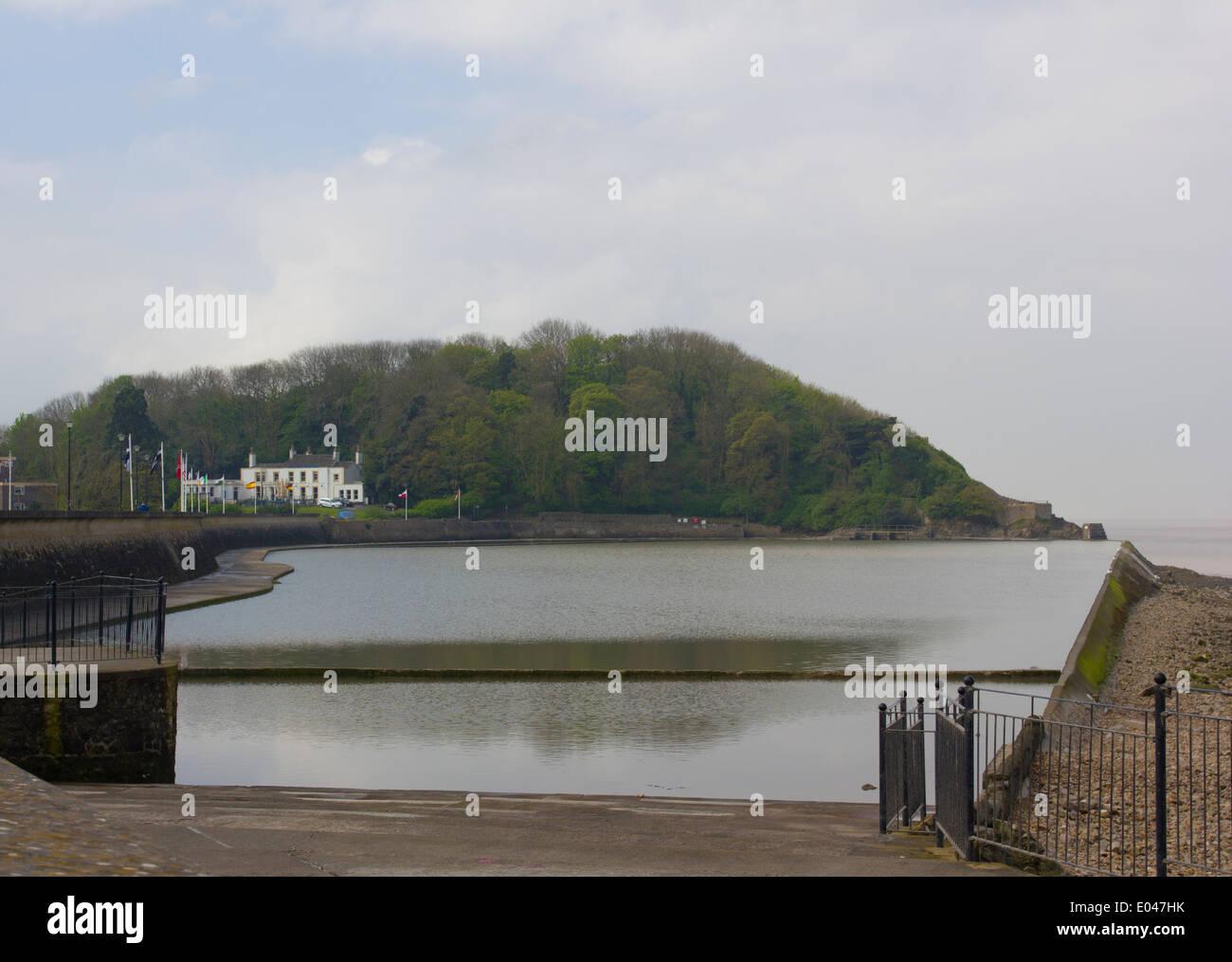 Marine lake in Clevedon, England, UK - Stock Image