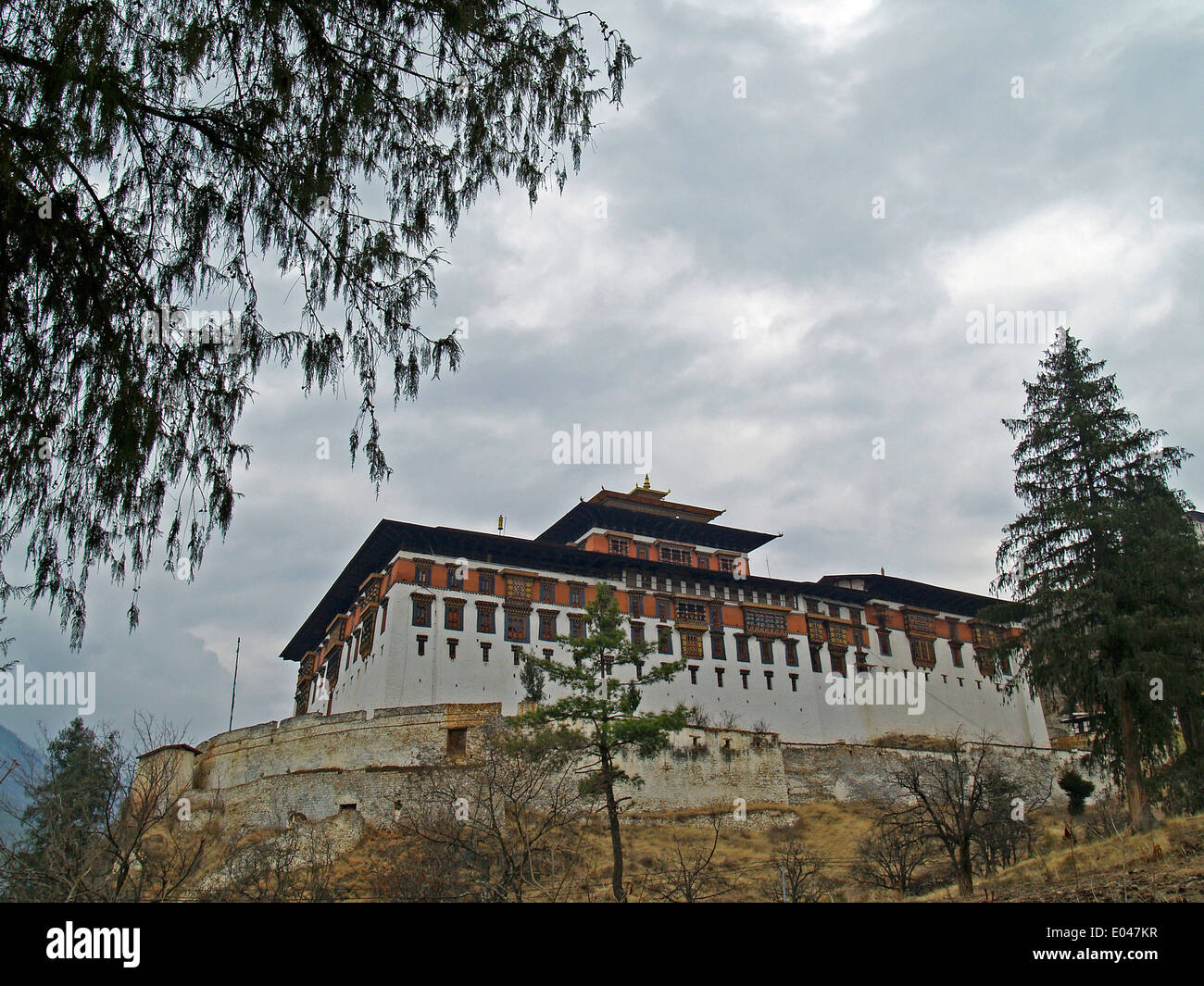The Paro Dzong in Bhutan - Stock Image