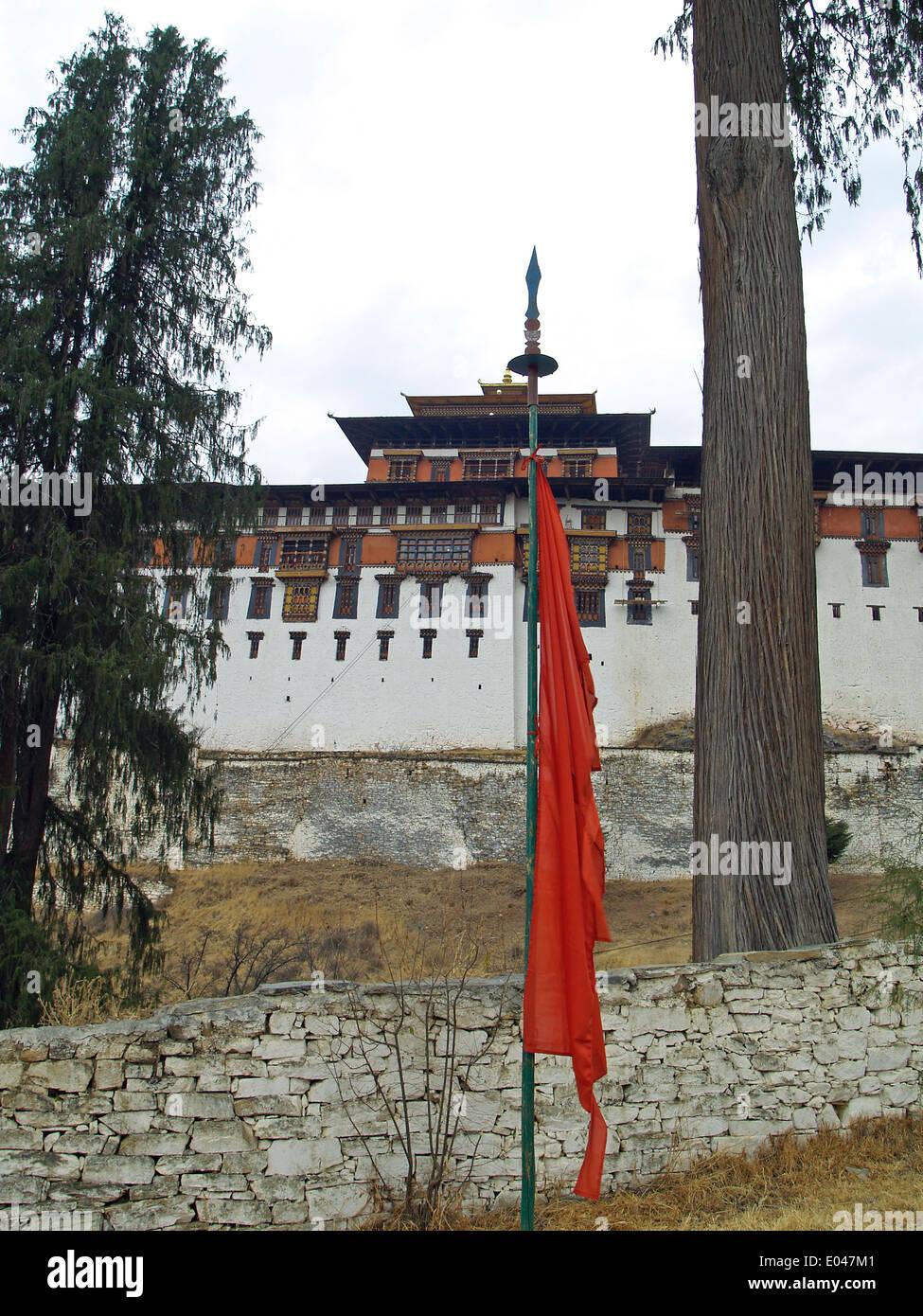 The Paro Dzong,Bhutan - Stock Image