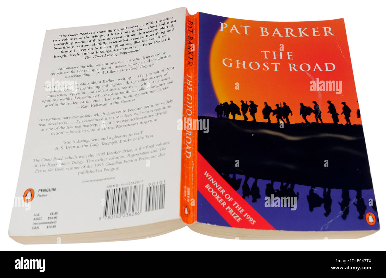 The Ghost Road by Pat Barker, part of the Regeneration Trilogy - Stock Image