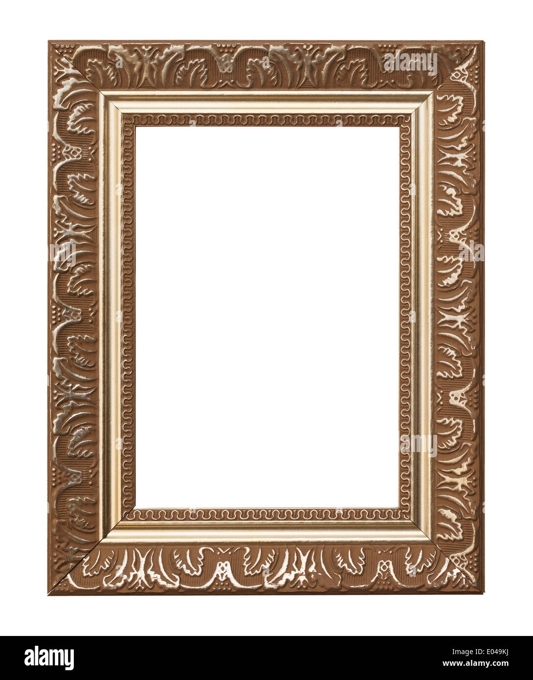 Picture Frame Isolated on White Background. - Stock Image