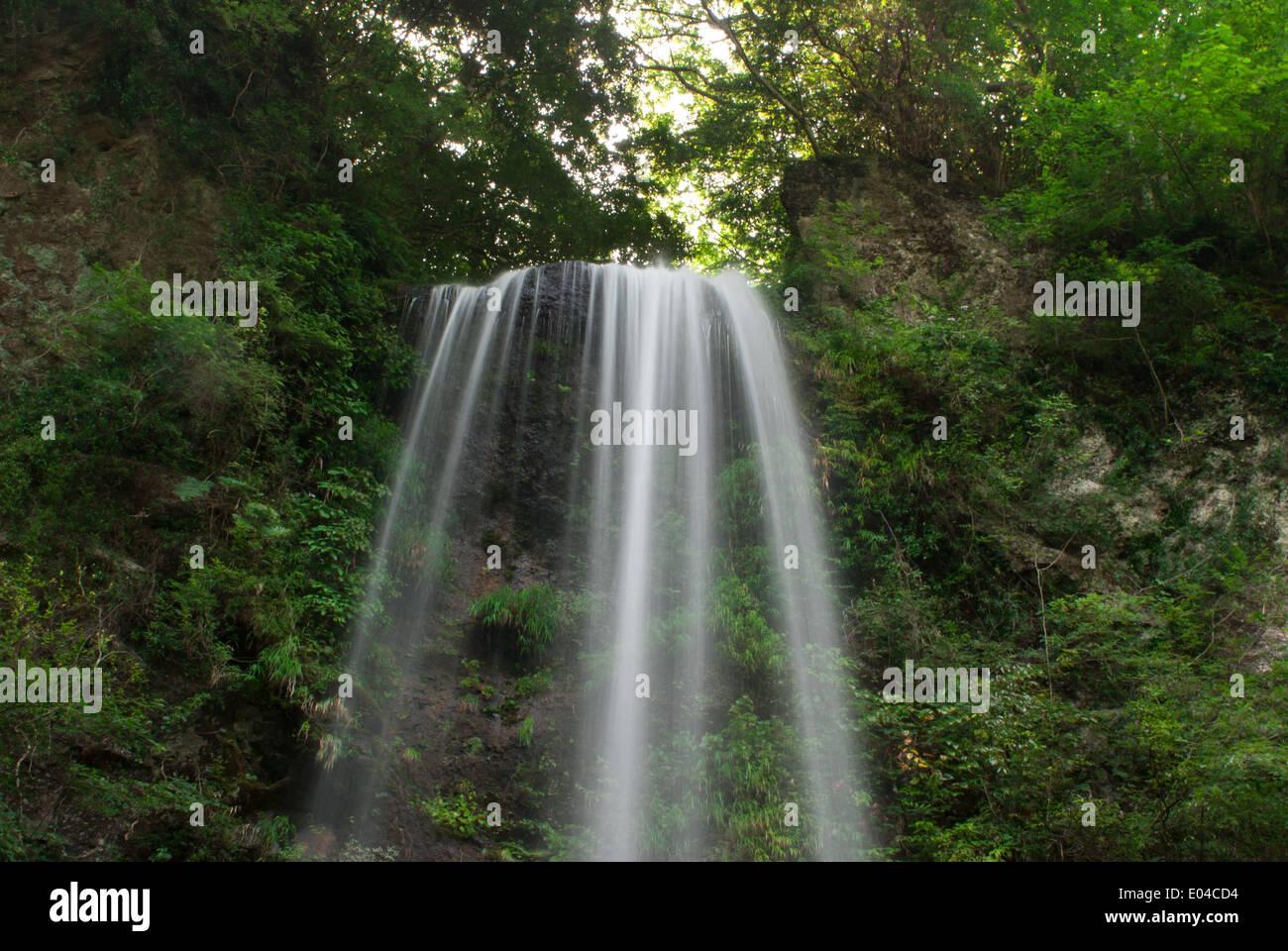 Yuhi Waterfall, Kanagawa Prefecture, Japan Stock Photo