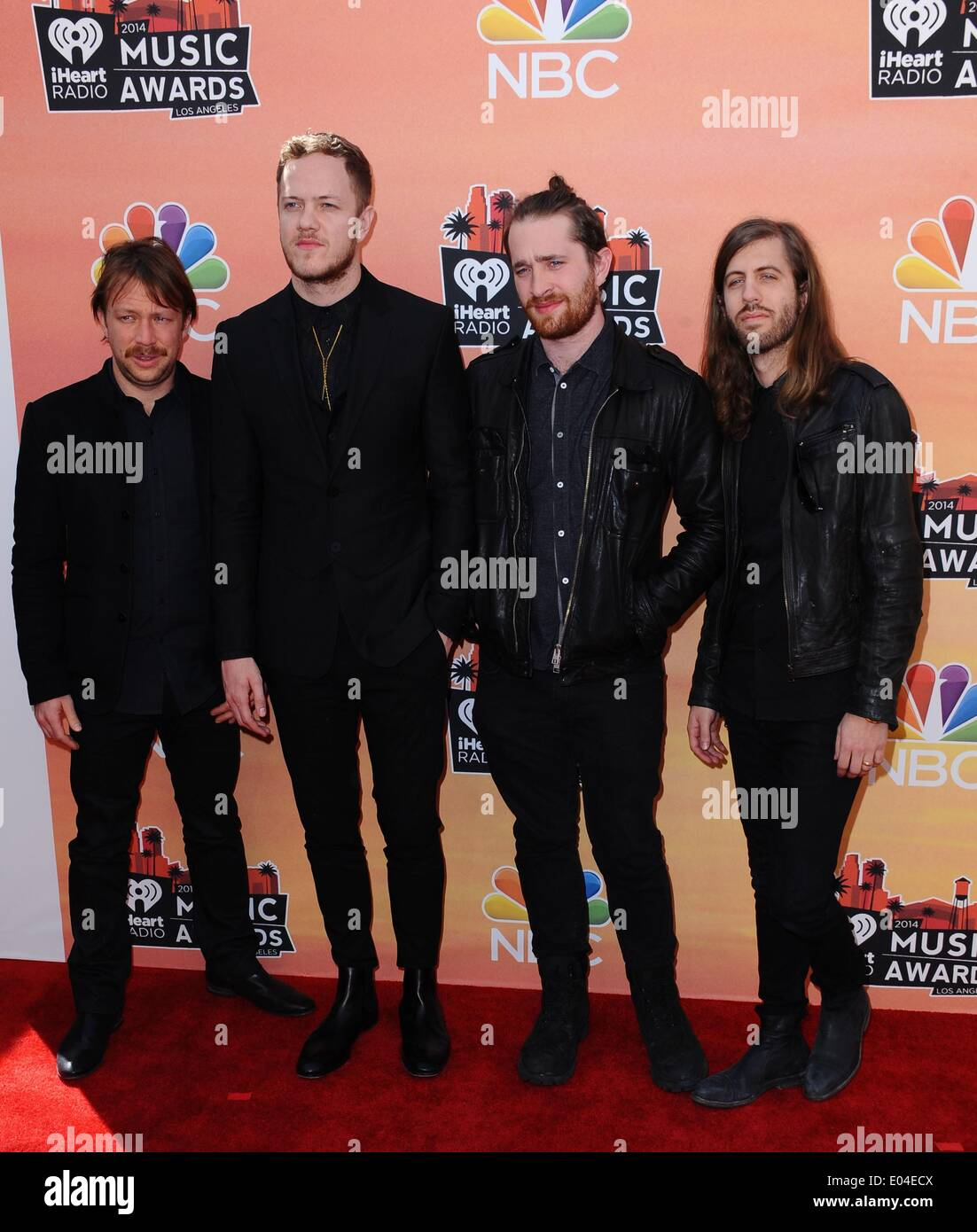 Los Angeles, CA, USA. 1st May, 2014. Imagine Dragons at arrivals for iHeartRadio Music Awards 2014, The Shrine Auditorium, Los Angeles, CA May 1, 2014. Credit:  Dee Cercone/Everett Collection/Alamy Live News - Stock Image