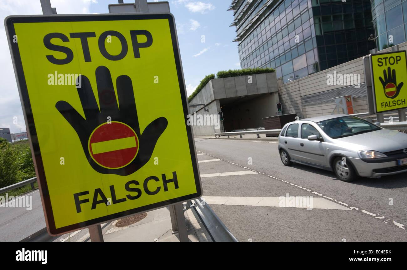 Strassenverkehr, Traffic, No entry sign, Verkehrszeichen - Stock Image