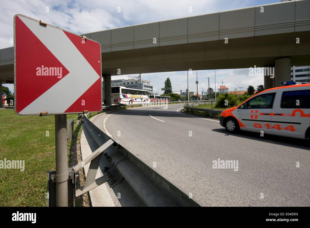 Traffic, Ambulance, Strassenverkehr, Rettung - Stock Image