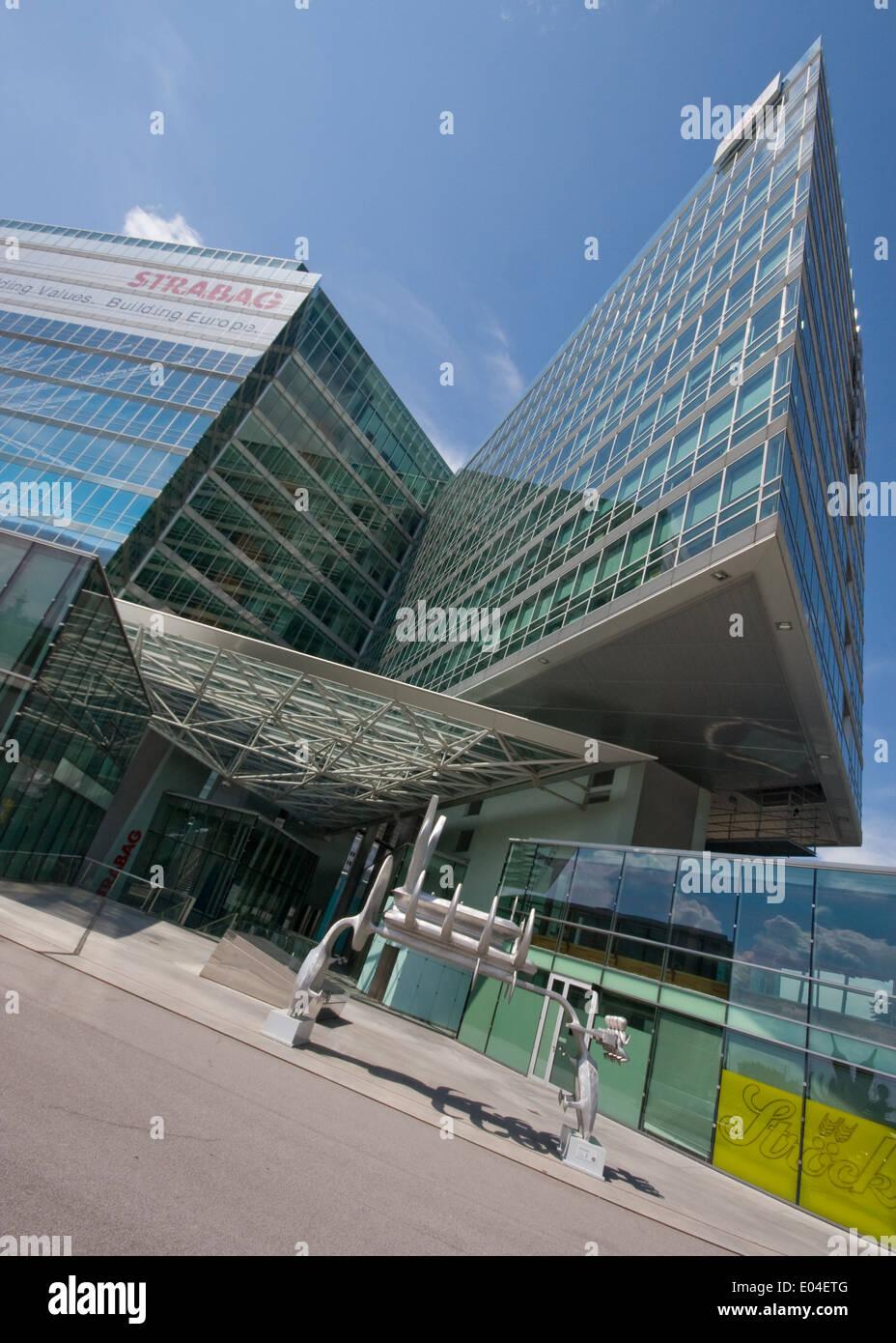 Strabag Headquarters, Vienna, Austria, Zentrale, Donaucity, Wien, Österreich - Stock Image