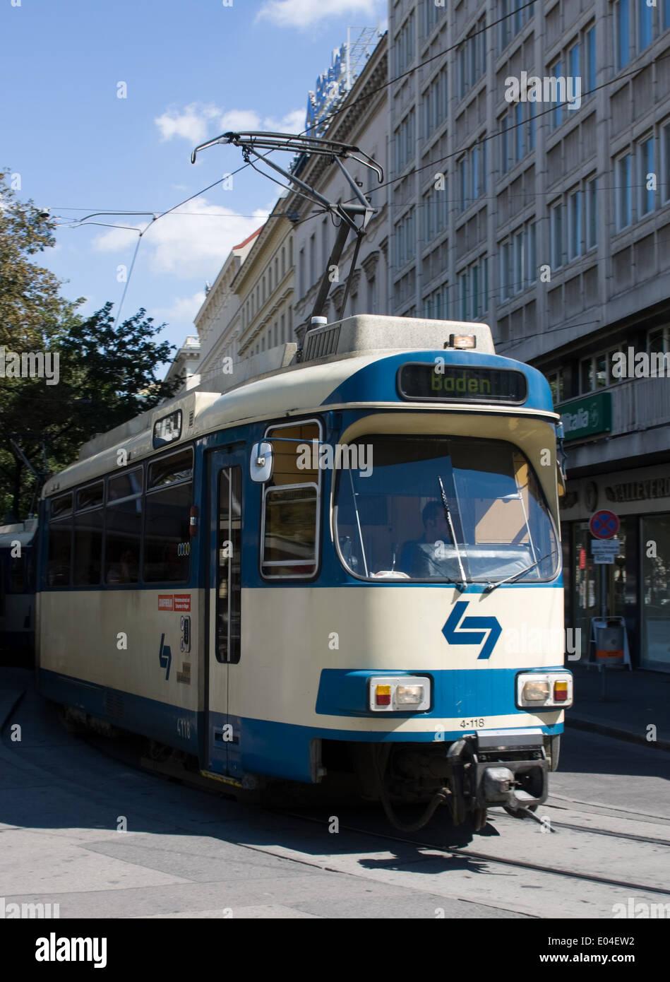 Badner Bahn, Wien, Österreich Stock Photo