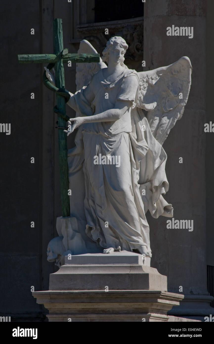 Detailaufnahme, Karlskirche, Wien, Österreich - Stock Image