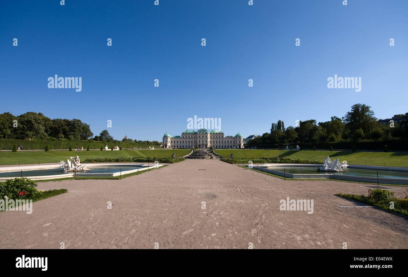 Schloß Belvedere, Wien, Österreich - Stock Image