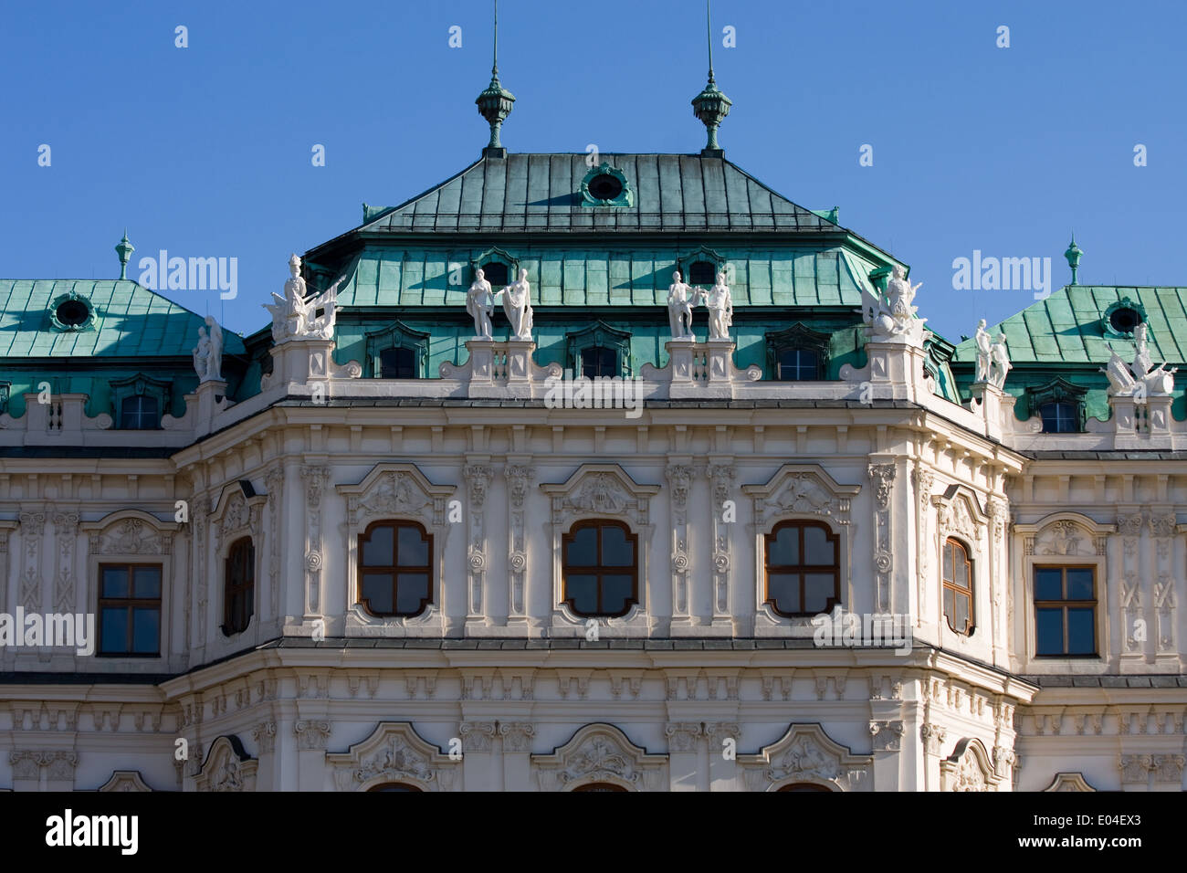 Detailaufnahme, Schloß Belvedere, Wien, Österreich - Stock Image